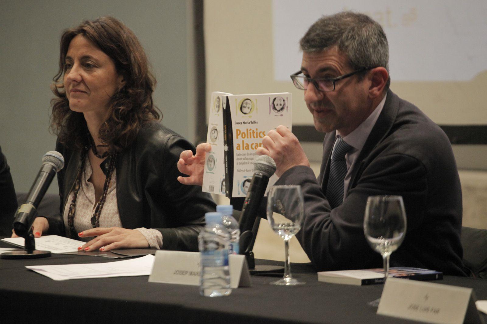 Conesa, una de les protagonistes del llibre i de la presentació. FOTO: Artur Ribera