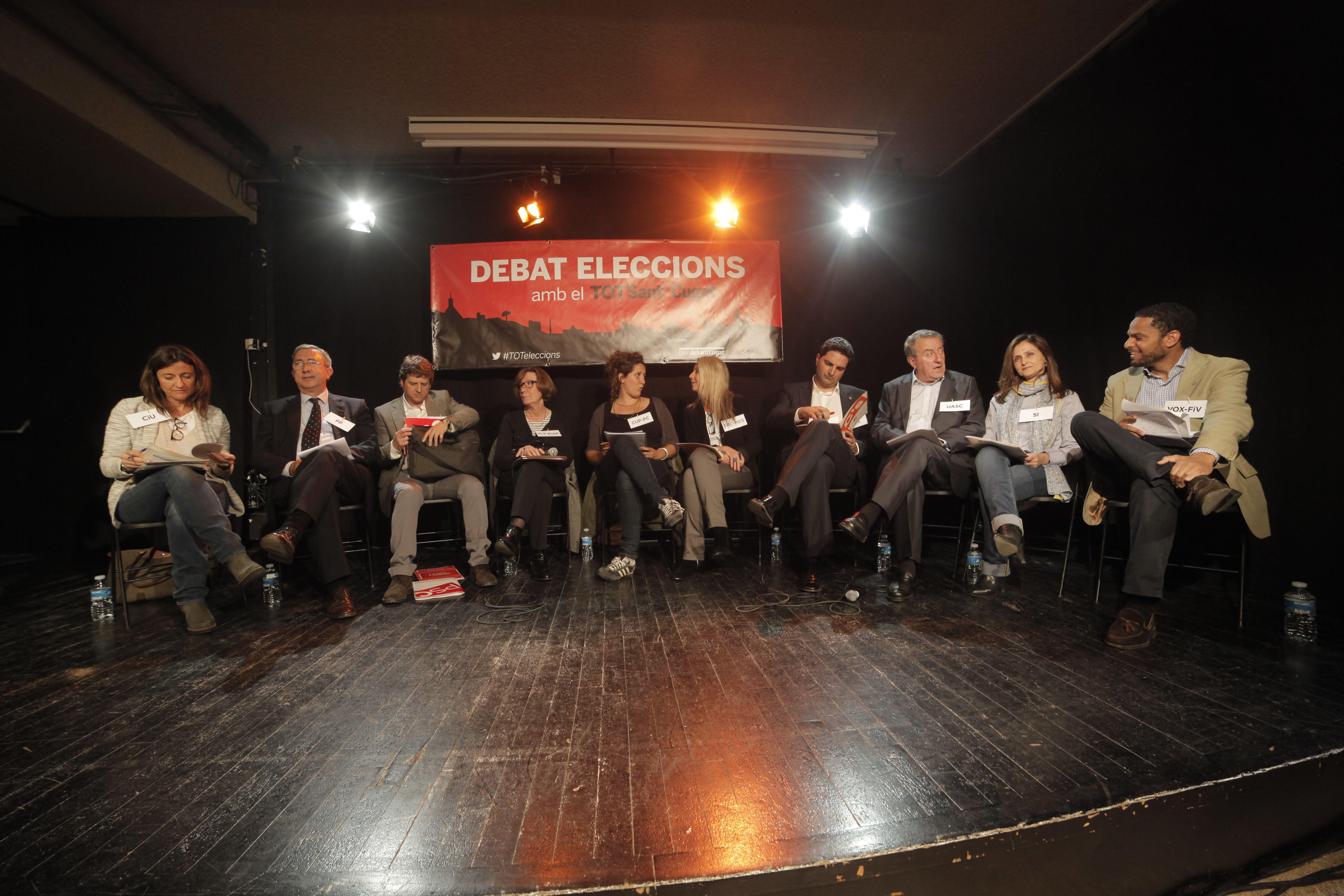 Els deu alcaldables durant el debat electoral organitzat pel 'TOT'. FOTO: Artur Ribera