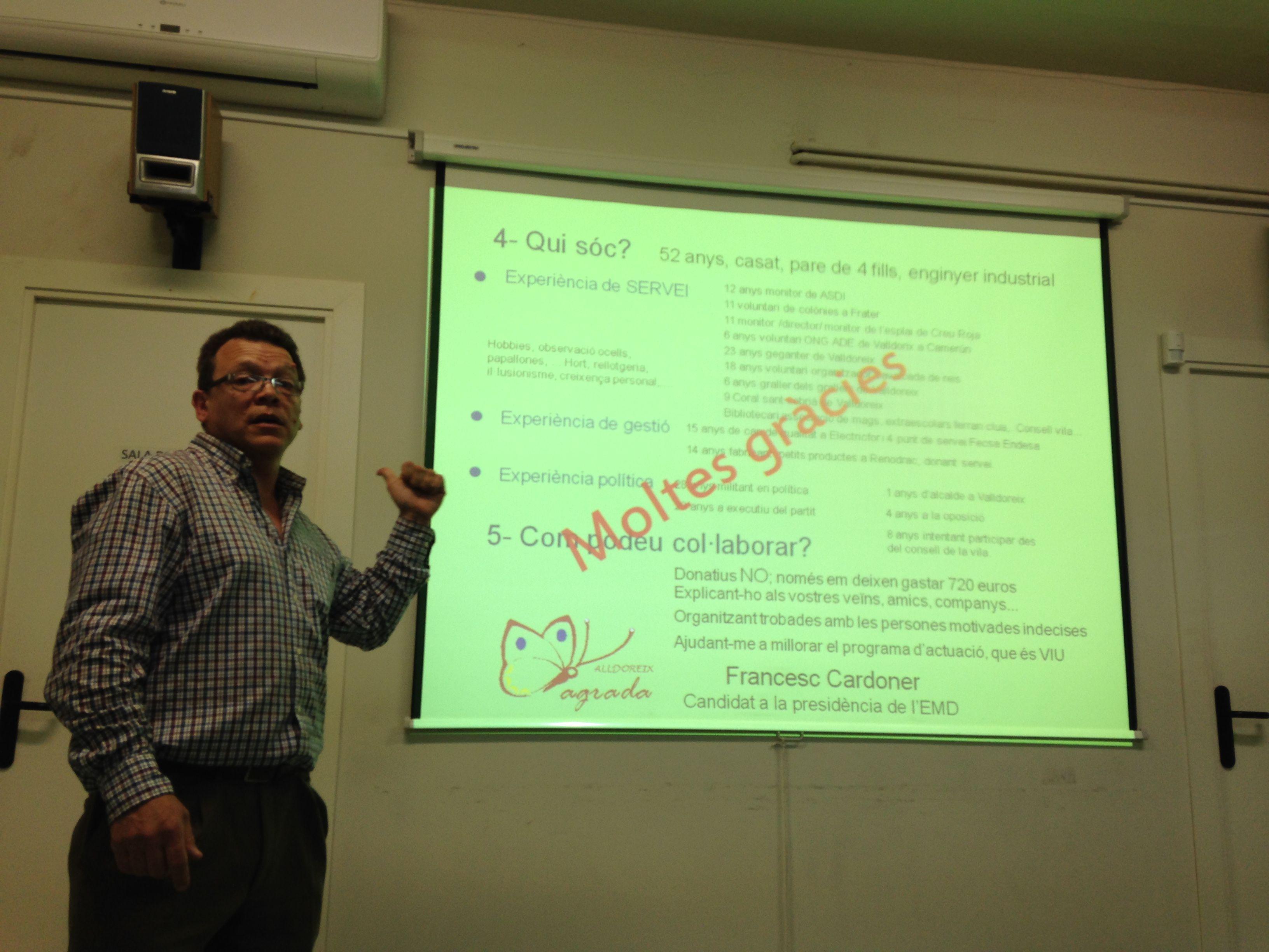 Presentació de la candidatura al Casal d'Avis de Valldoreix. FOTO: À.P