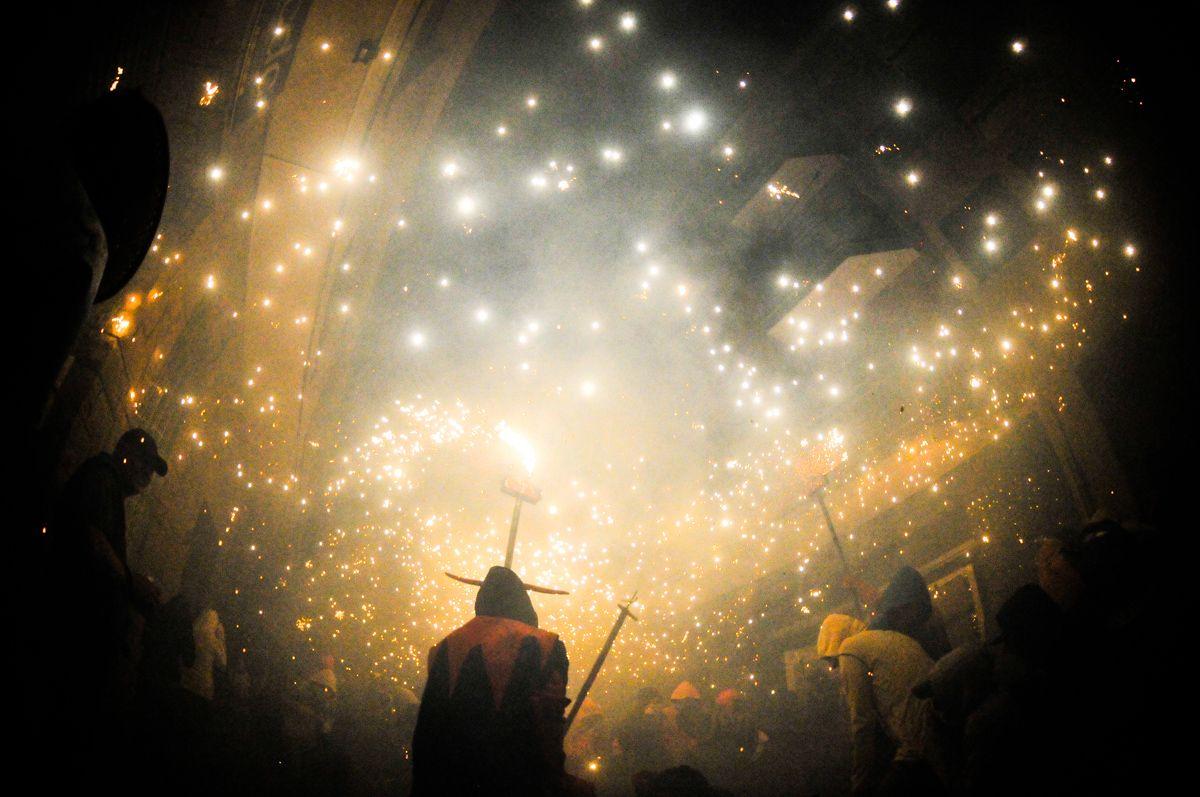 Diables de Sant Cugat presentarà la seva bèstia de foc. FOTO: David Molina