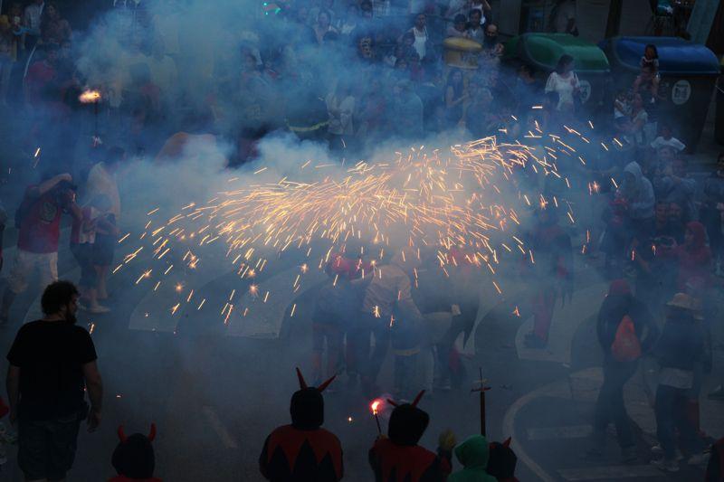Els Diablons han fet gaudir als amants del foc en aquest primer dia de Festa Major. FOTO: Lali Puig