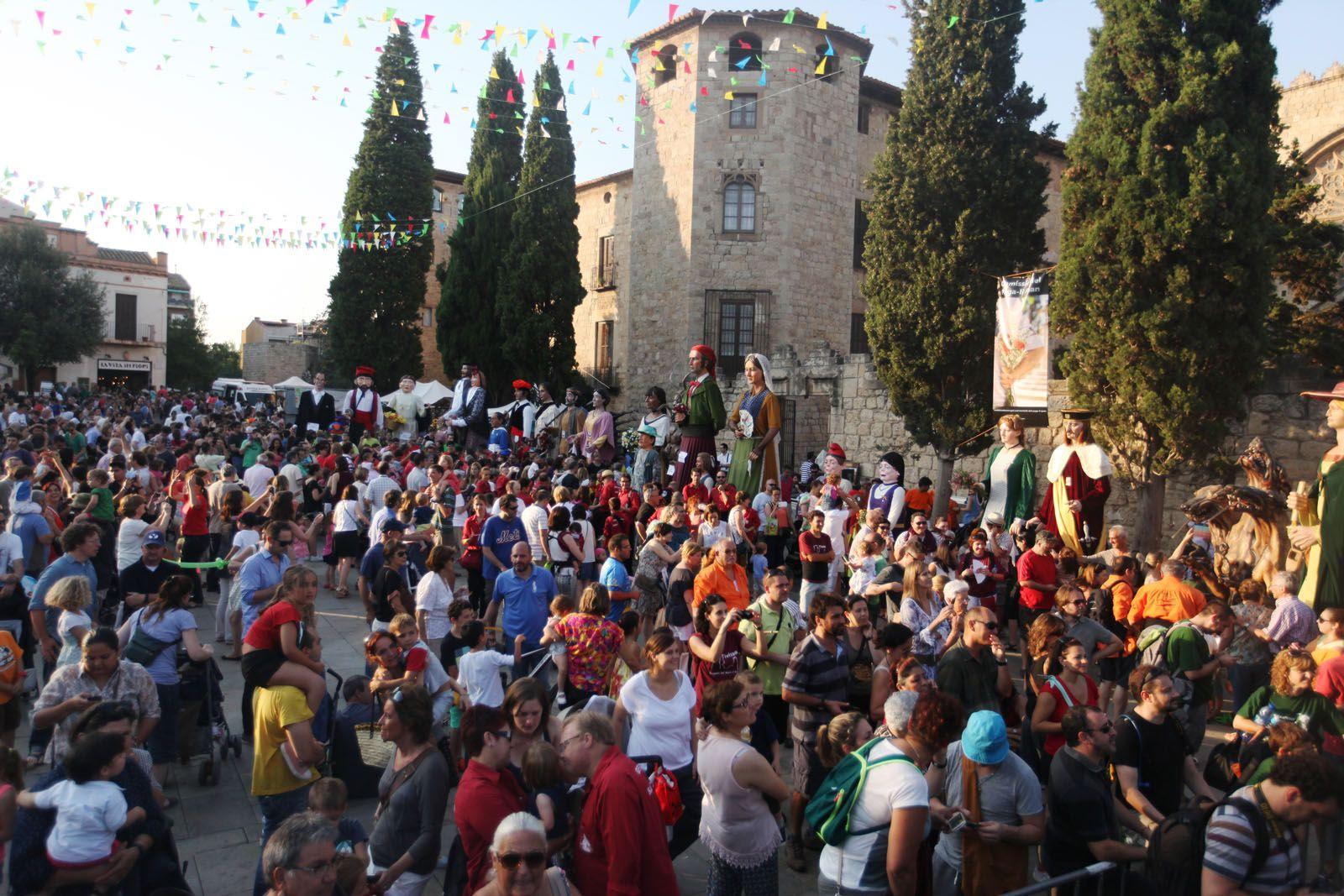 Ball de Gegants a la Plaça d'Octavià. FOTOS: Lali Puig
