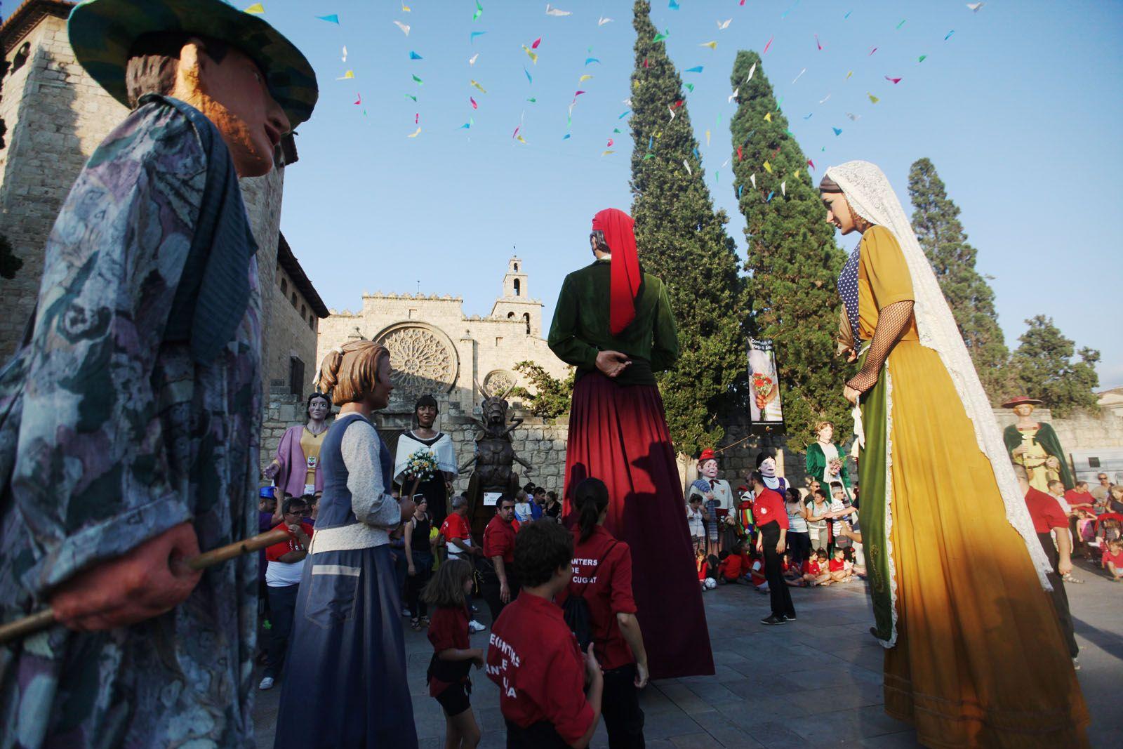 El Joan i la Marieta han precedit la festa. FOTO: Lali Puig