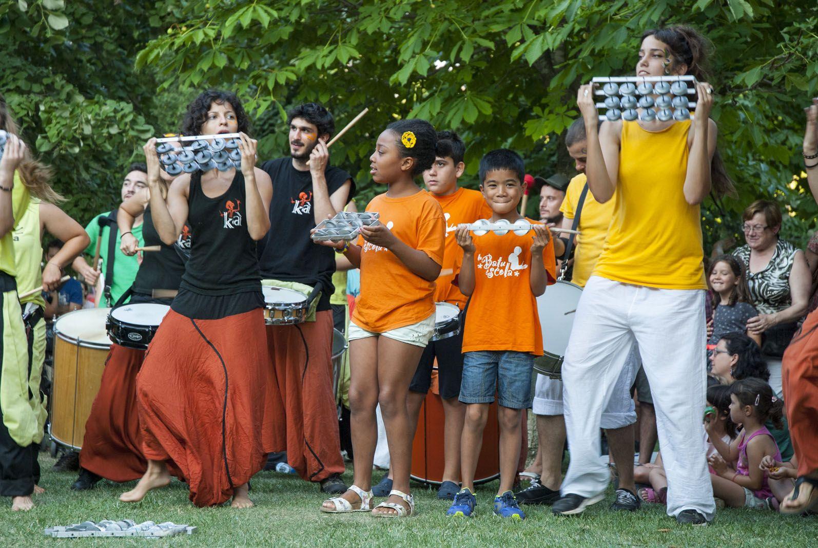 Trobada Percussionista, Jardins del Monestir. FOTO: Aïda Sotelo
