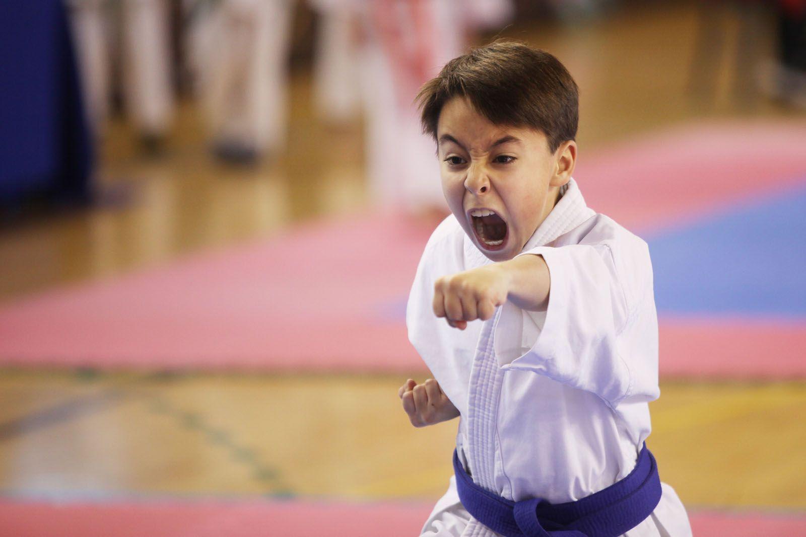 Un dels karatekes participants FOTO: lali Puig