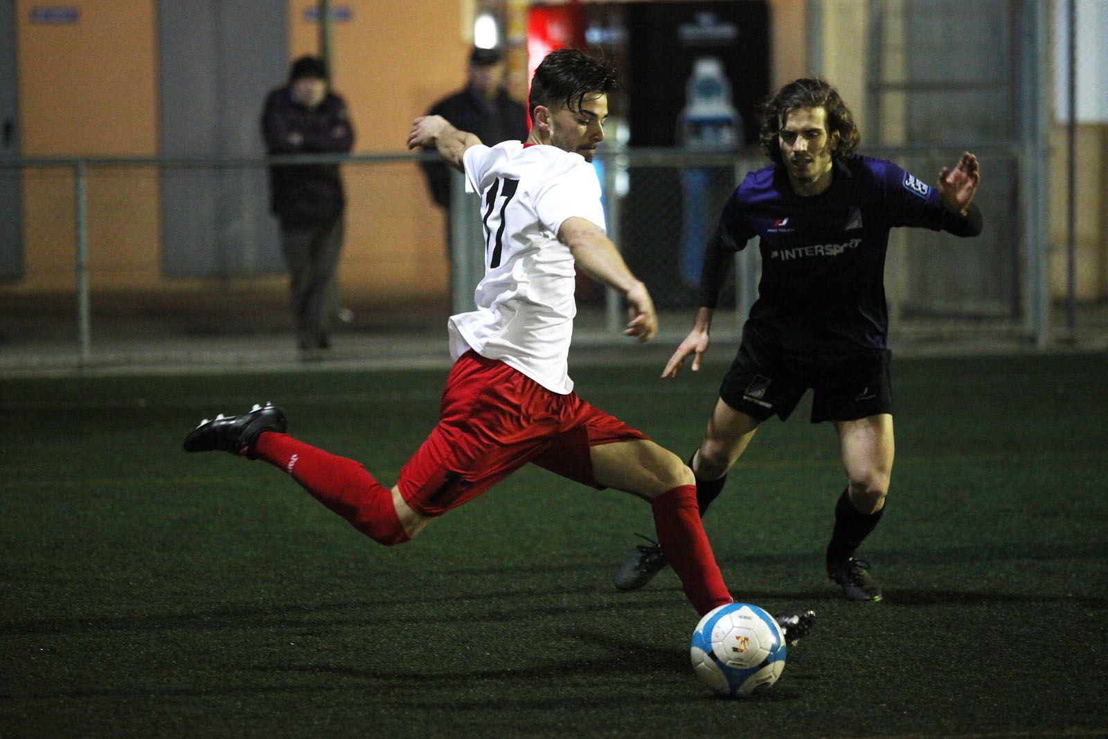 Fabià ha fet el gol del Sant Cugat Esport FC FOTO: Lali Puig