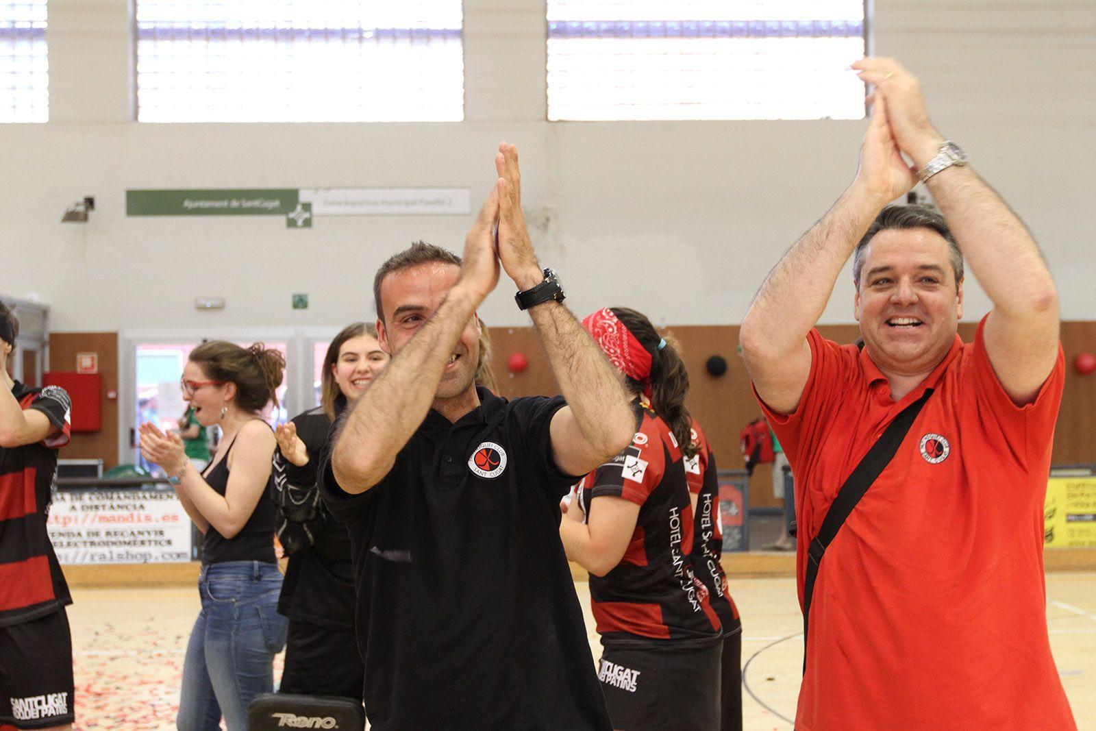Jaume Oms i Gus de los Santos aplaudint al públic FOTO: Haidy Blanch