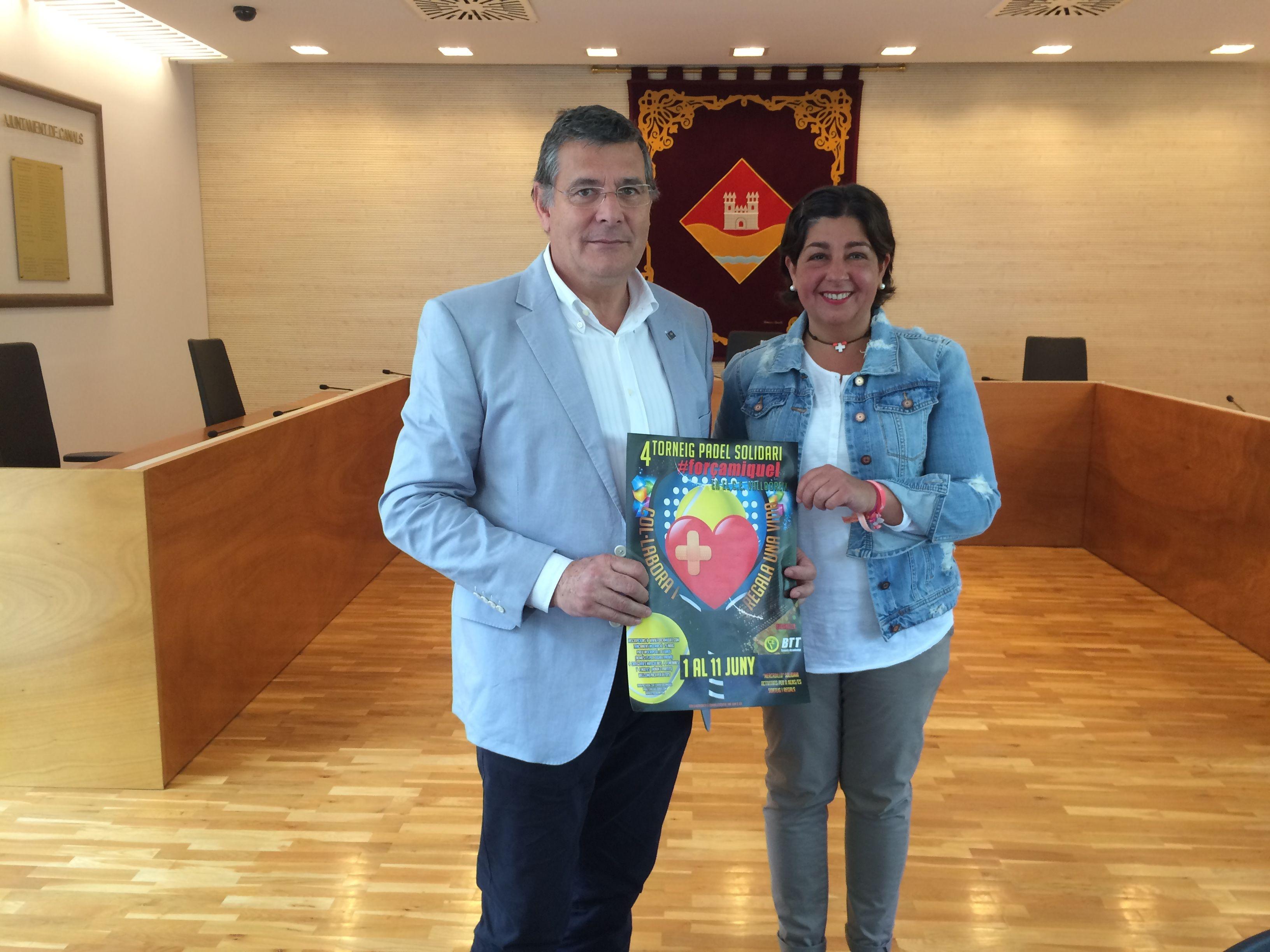 L'EMD de Valldoreix ha lliurat 3.000 euros al Torneig Força Miquel FOTO: Àlex López Puig