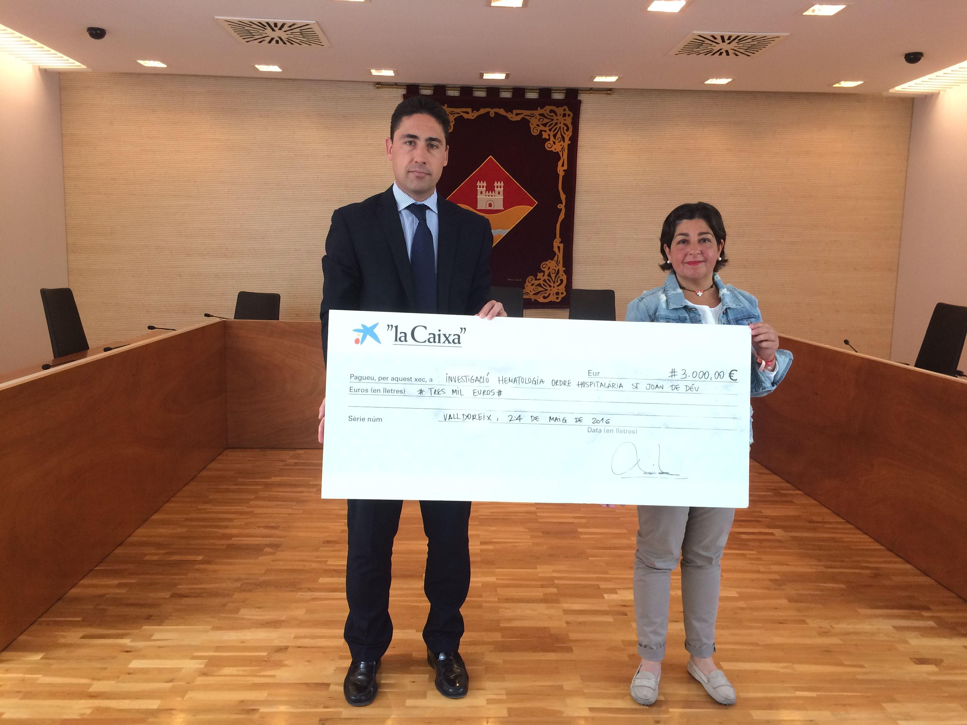 La Fundació la Caiza ha donat 3.000 euros al Torneig Força Miquel FOTO: Àlex López Puig