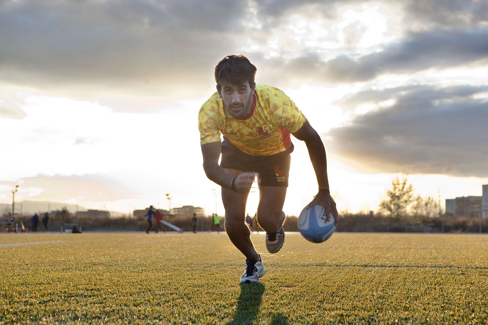 Pol Pla s'ha format al Club de Rugby Sant Cugat i actualment és jugador del FC Barcelona FOTO: Artur Ribera