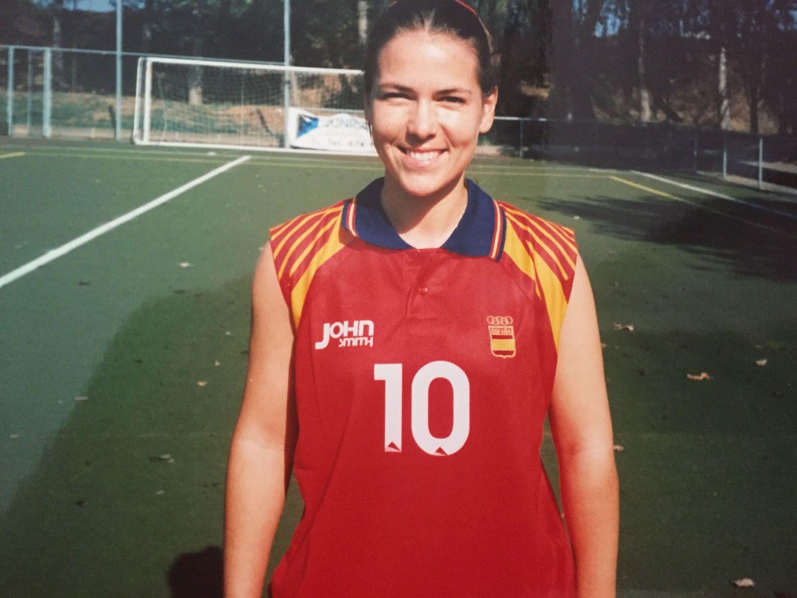 Lucía López va ser integrant de la selecció espanyola d'hoquei a Atlanta com a jugadora del Junior. FOTO: Cedida