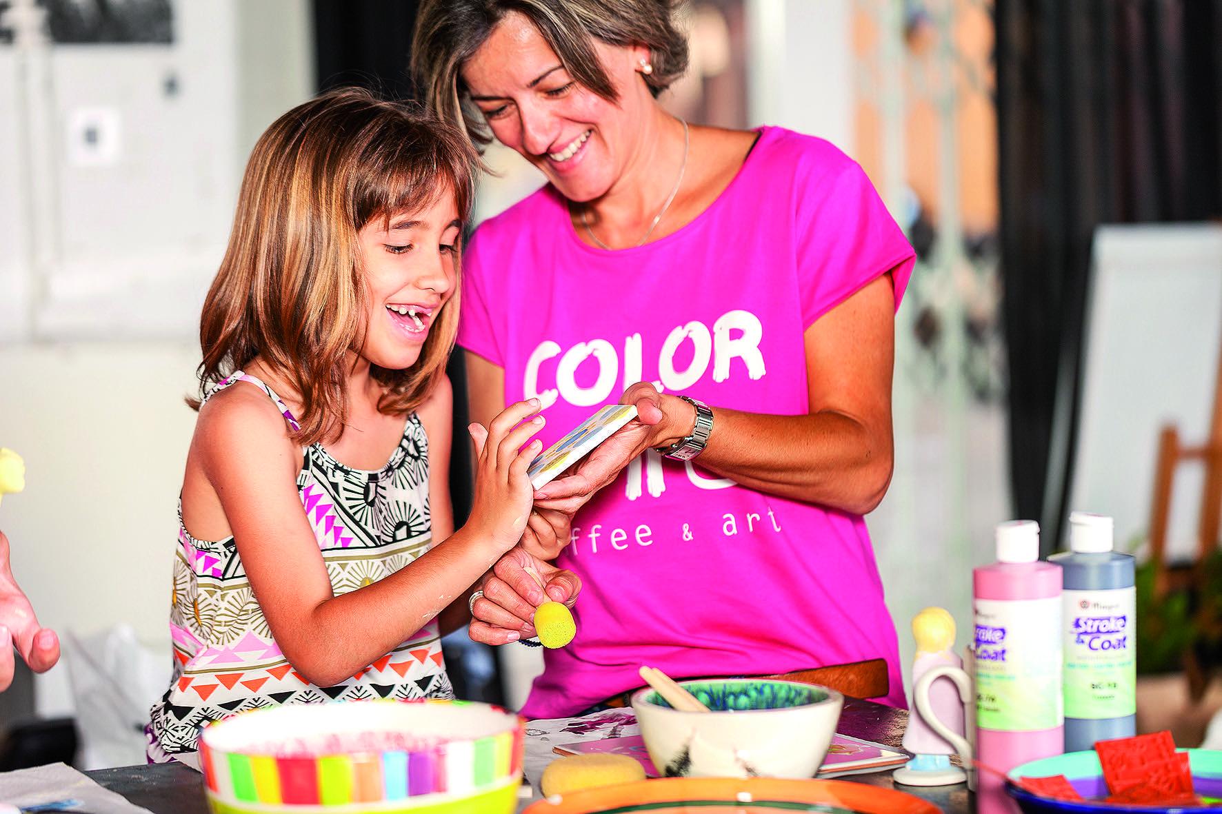La pintura per als més petits i joves de la casa. FOTO: Cedida