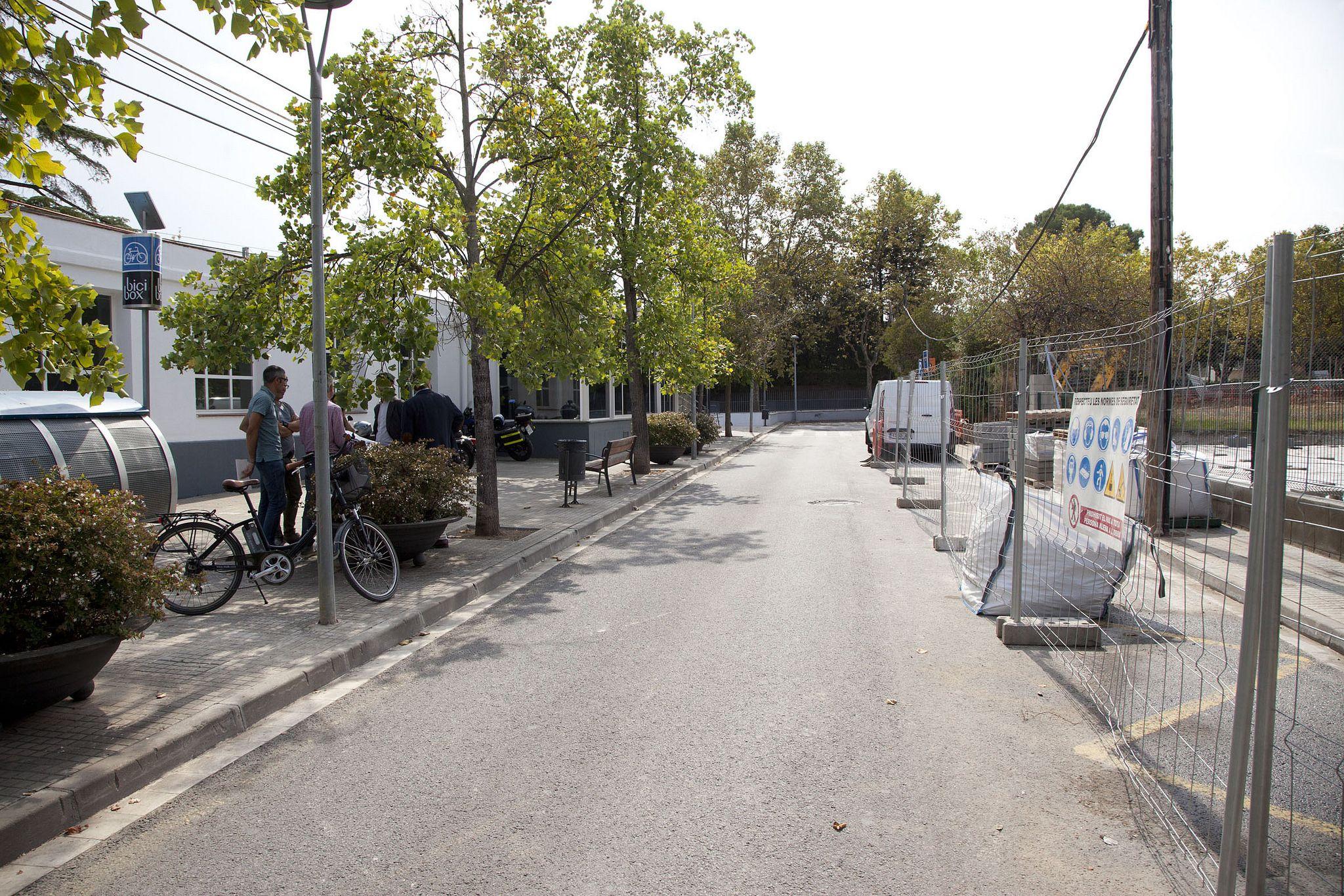 Està situat al carrer de l'Andana, darrere de l'estació de Ferrocarrils de la Generalitat FOTO: Localpres