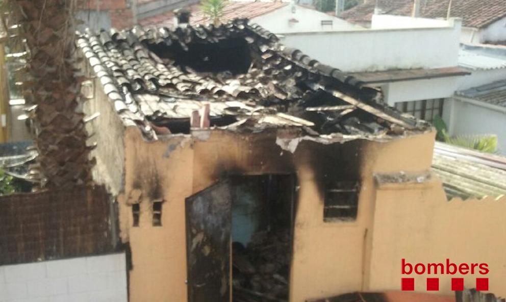El traster que s'ha cremat FOTO: Bombers de la Generalitat