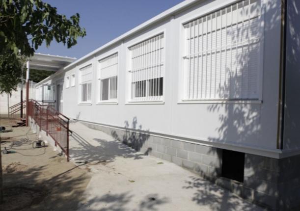 Barracons cobreixen ara les necessitats de l'escola La Mirada FOTO: Artur Ribera