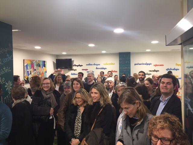 Un centenar de persones s'han donat cita a la inauguració FOTO: L. Grau