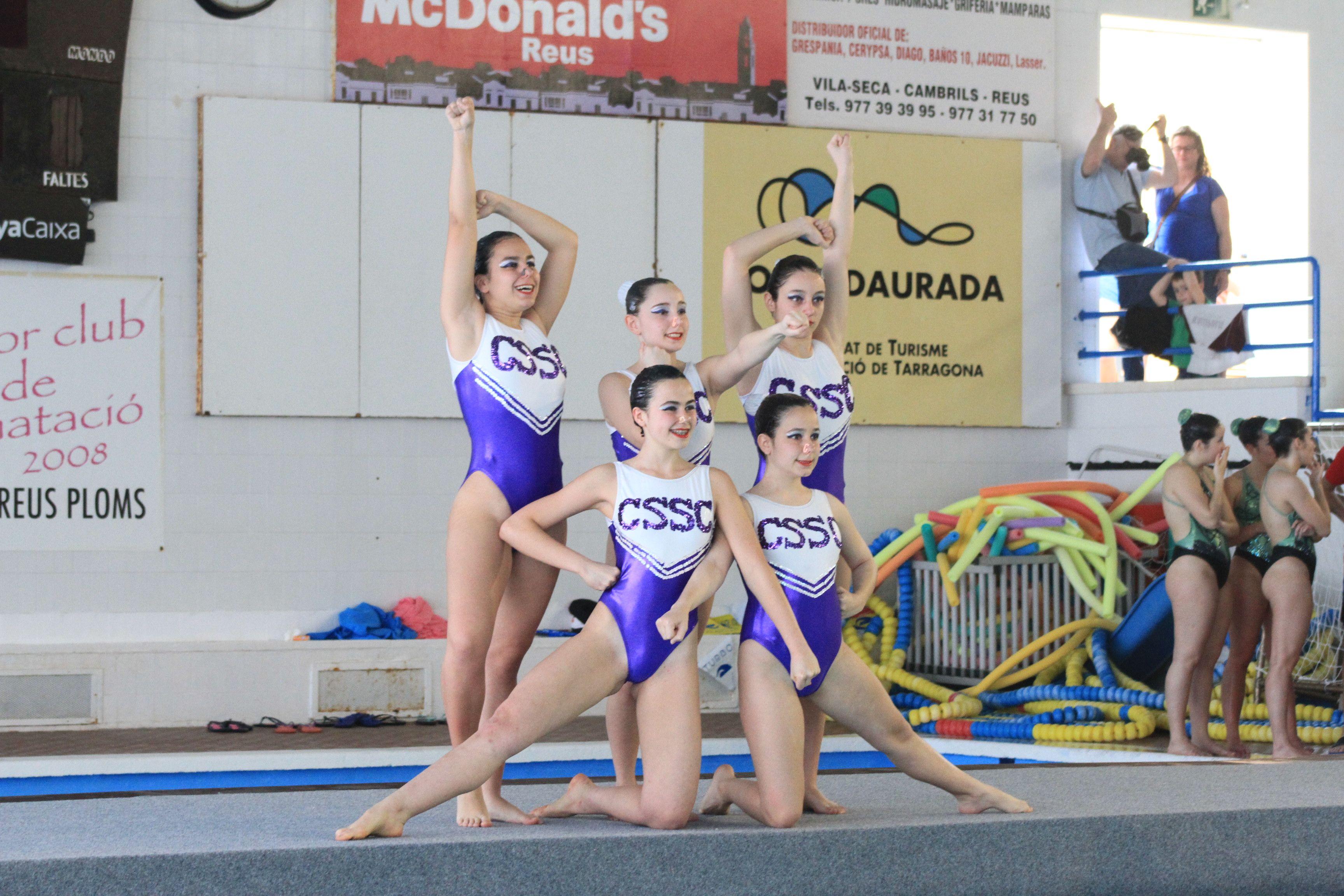 El Club Sincro Sant Cugat, 11es en la Copa Catalunya Open de natació sincronitzada. FOTO: CSSC