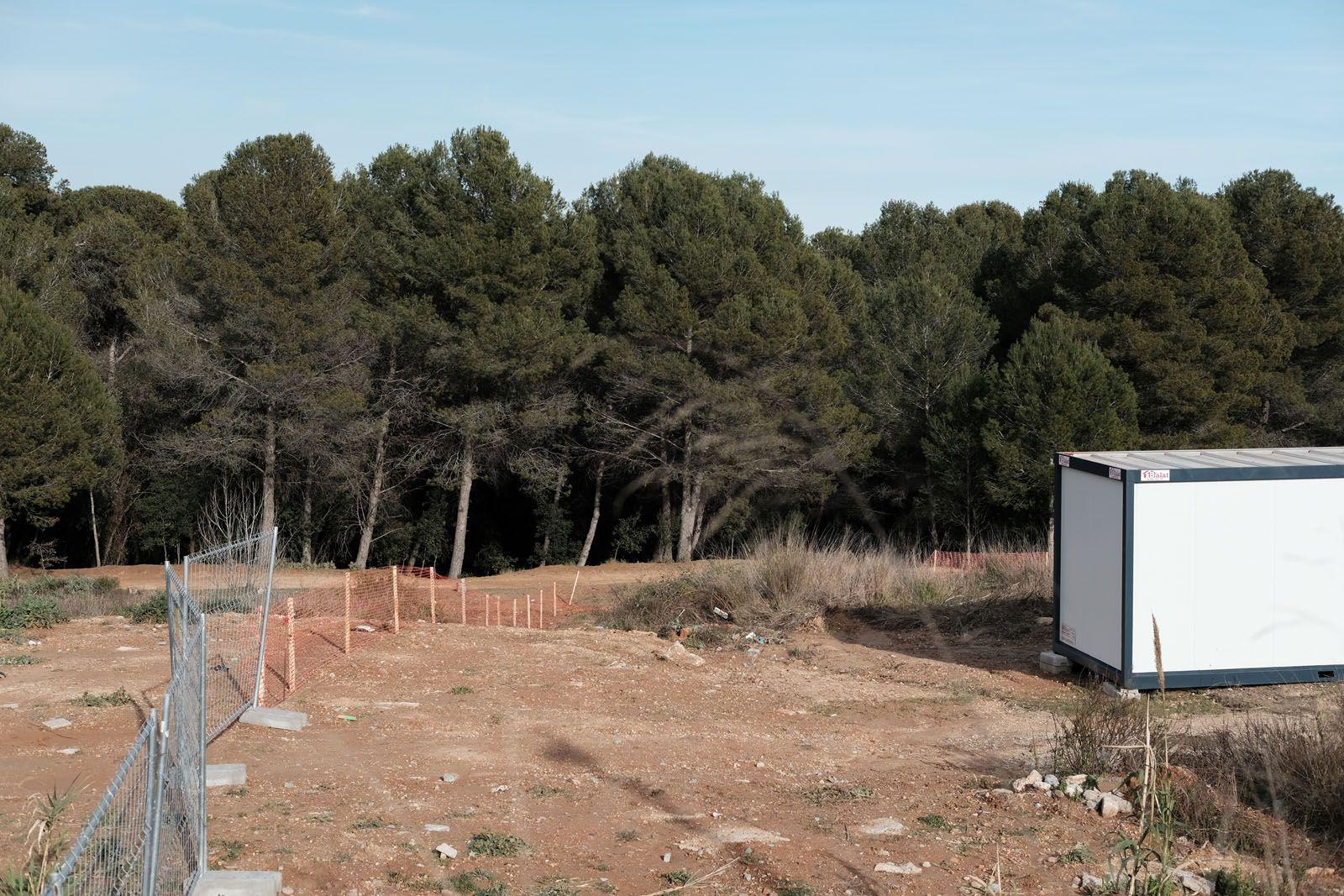 Imatge del terreny delimitat FOTO: Ale Gómez