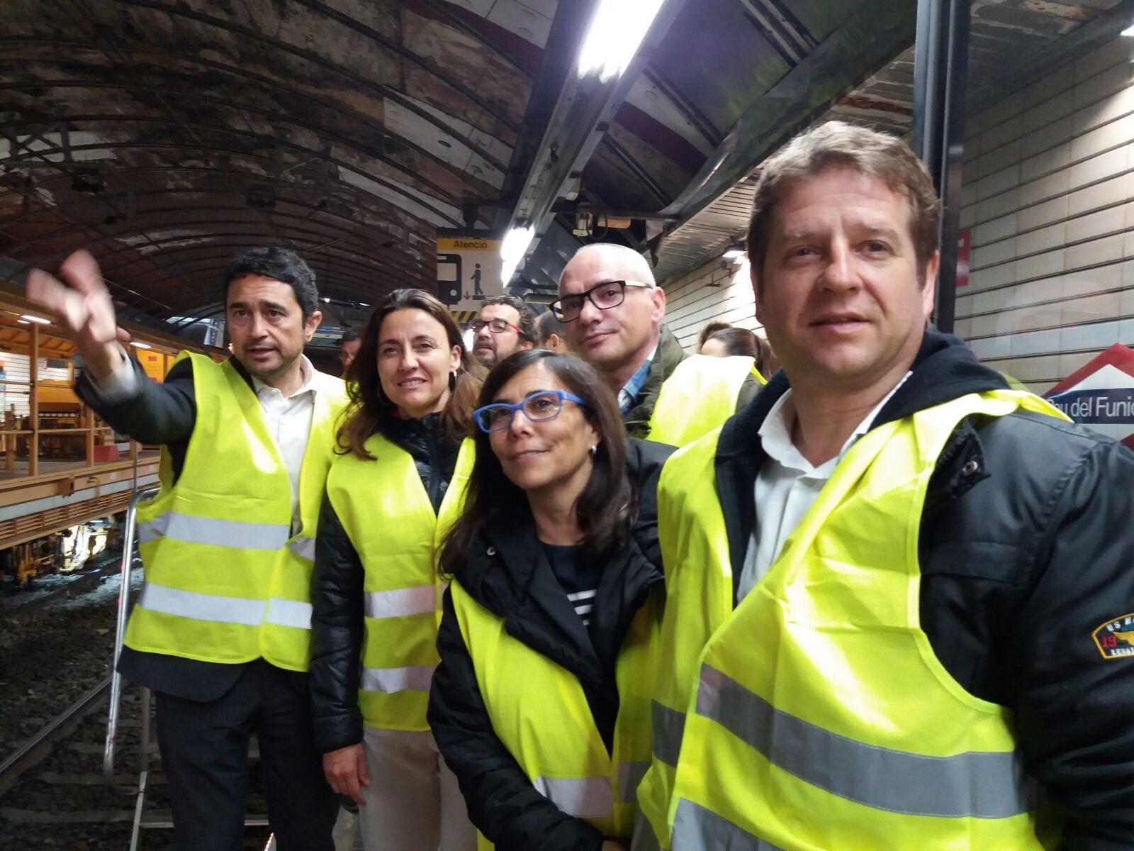 El tinent d'alcalde d'Urbanisme, Damià Calvet, l'alcaldessa, Mercè Conesa, la tinent d'alcalde de Mobilitat, Cristina Paraira i el tinent d'alcalde d'Ocupació, Pere Soler FOTO: Cedida
