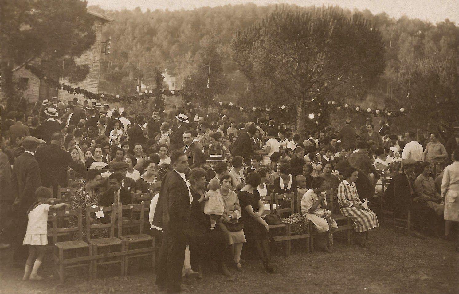 Representació teatral a la Floresta el 1925. FOTO: Cedida/Ricard Mestre