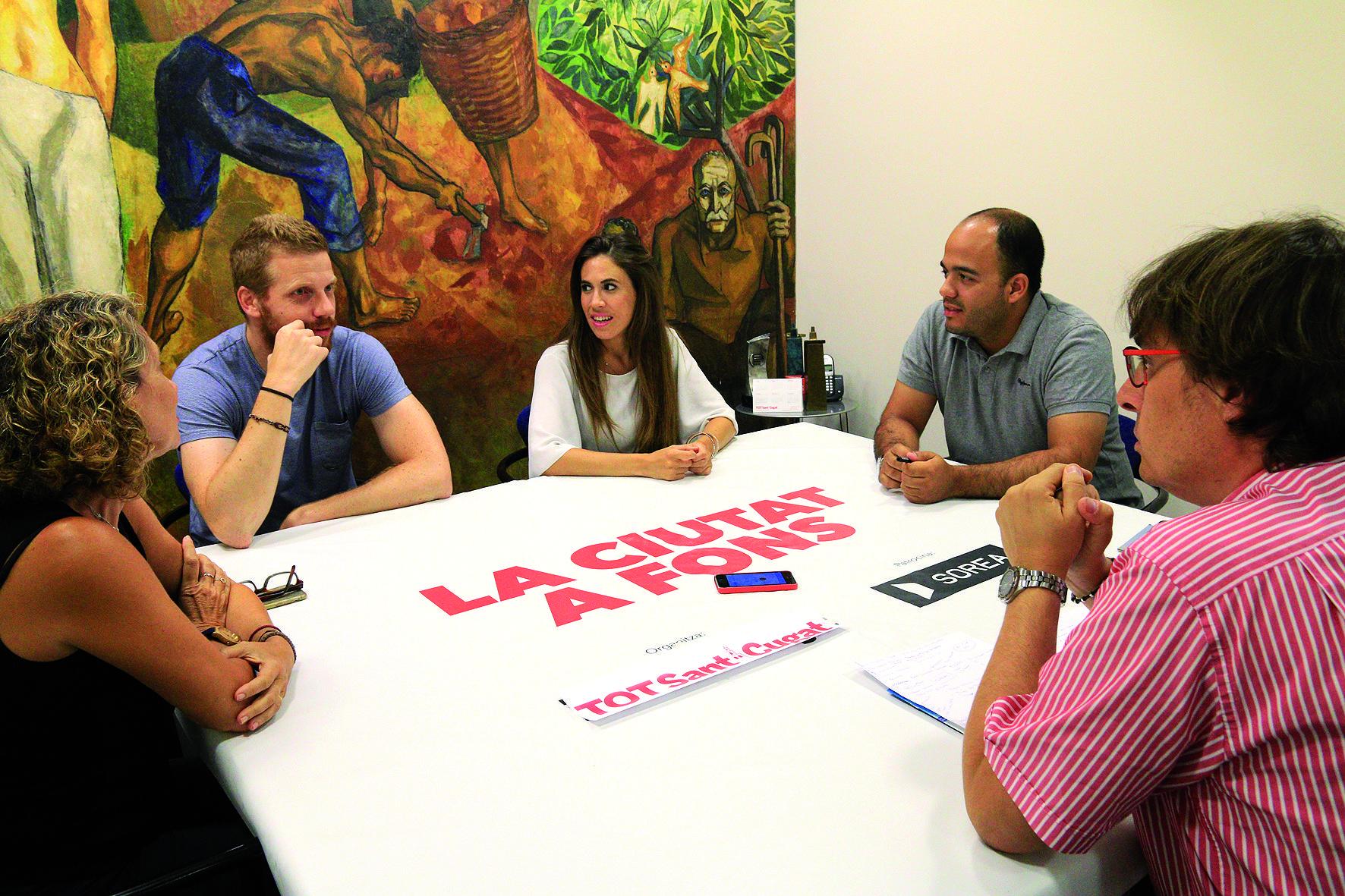 D'esquerra a dreta, Concepció Curet, Sergi Figueres, María Gilabert i Manu Navas. FOTO: Lali Álvarez