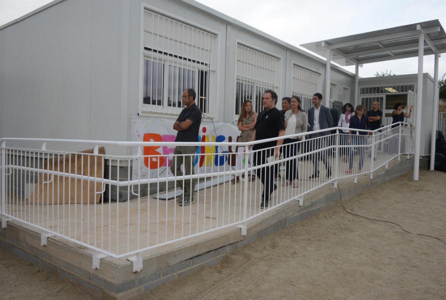 L'escola La Mirada funciona actualment en mòduls prefabricats FOTO: Localpres