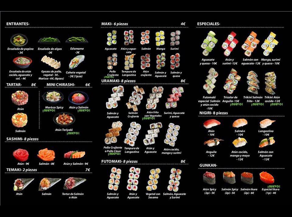 Carta Nobi Sushi