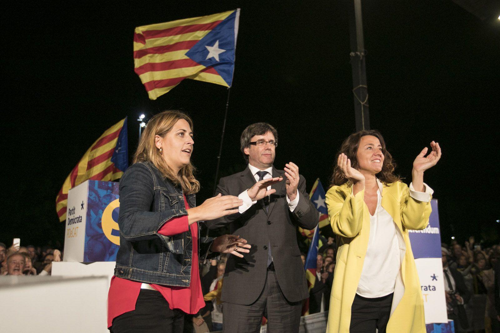 Pascal, Puigdemont i Conesa FOTO: Lali Puig