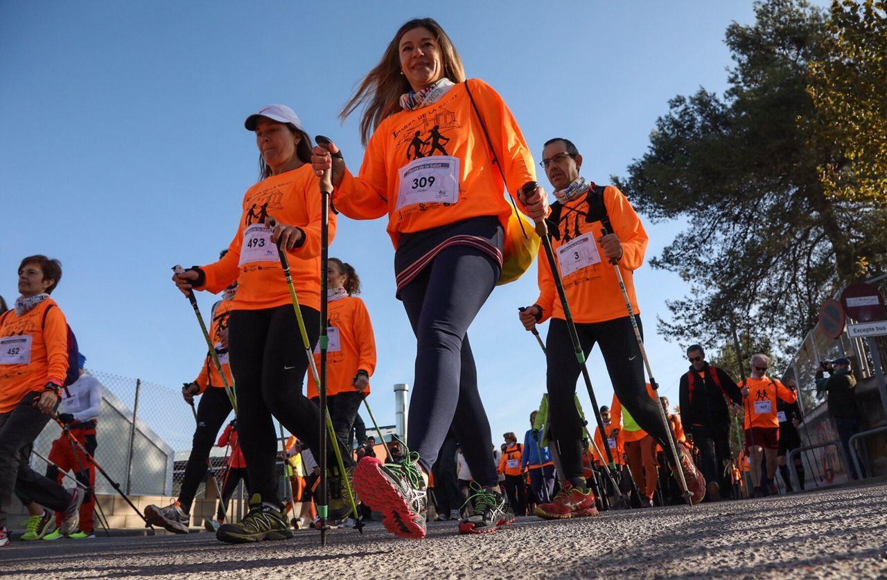 Els organitzadors han estat el Club Muntanyenc Sant Cugat i el Club Marxa Nòrdica Collserola. FOTO: Lali Puig