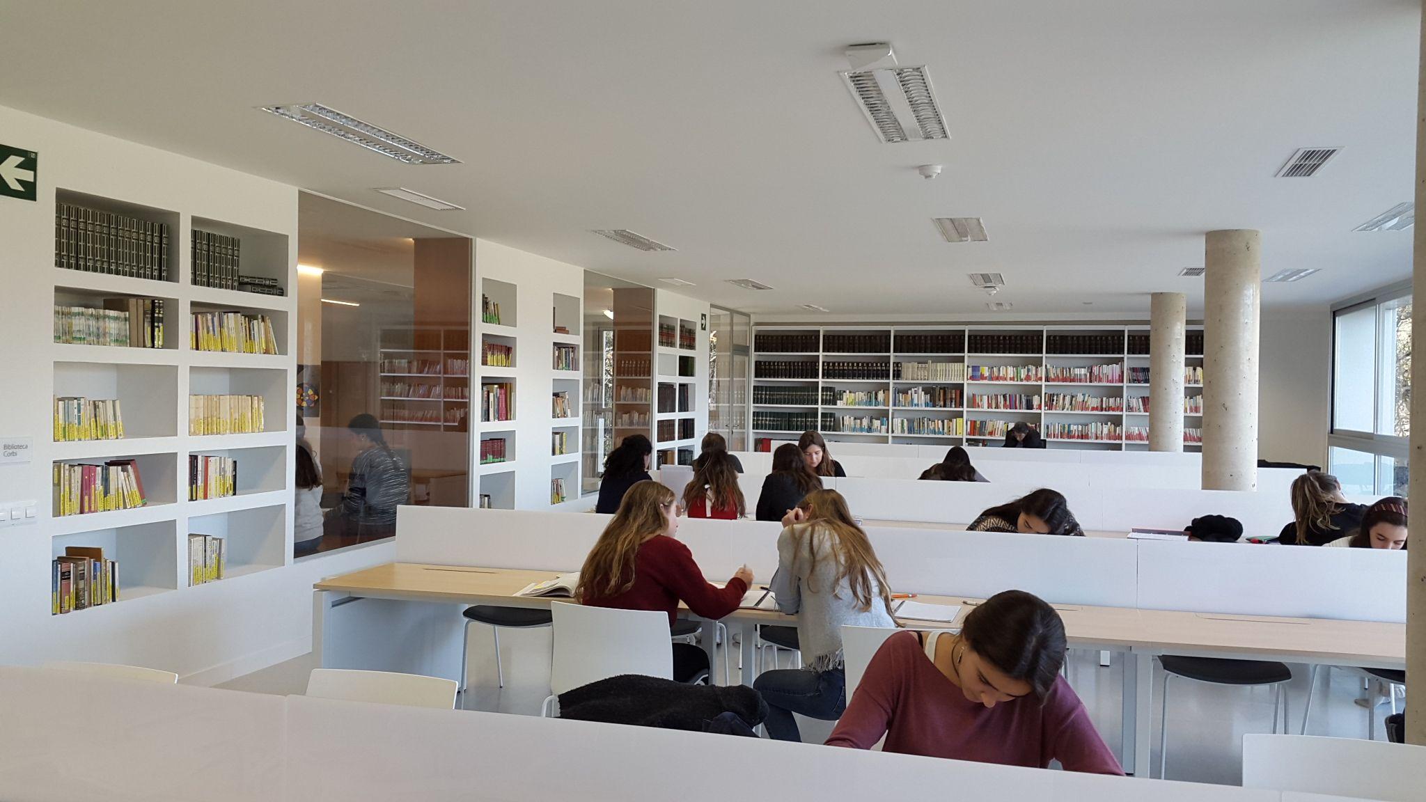 Biblioteca de l'escola La Vall FOTO. Cedida