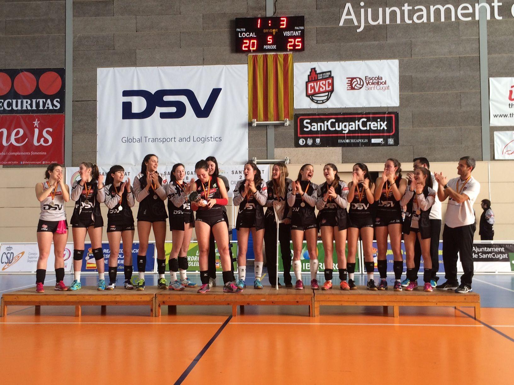 El juvenil A del DSV CV Sant Cugat, subcampió de la Superlliga Júnior Femenina 2018. FOTO: Àlex López Puig