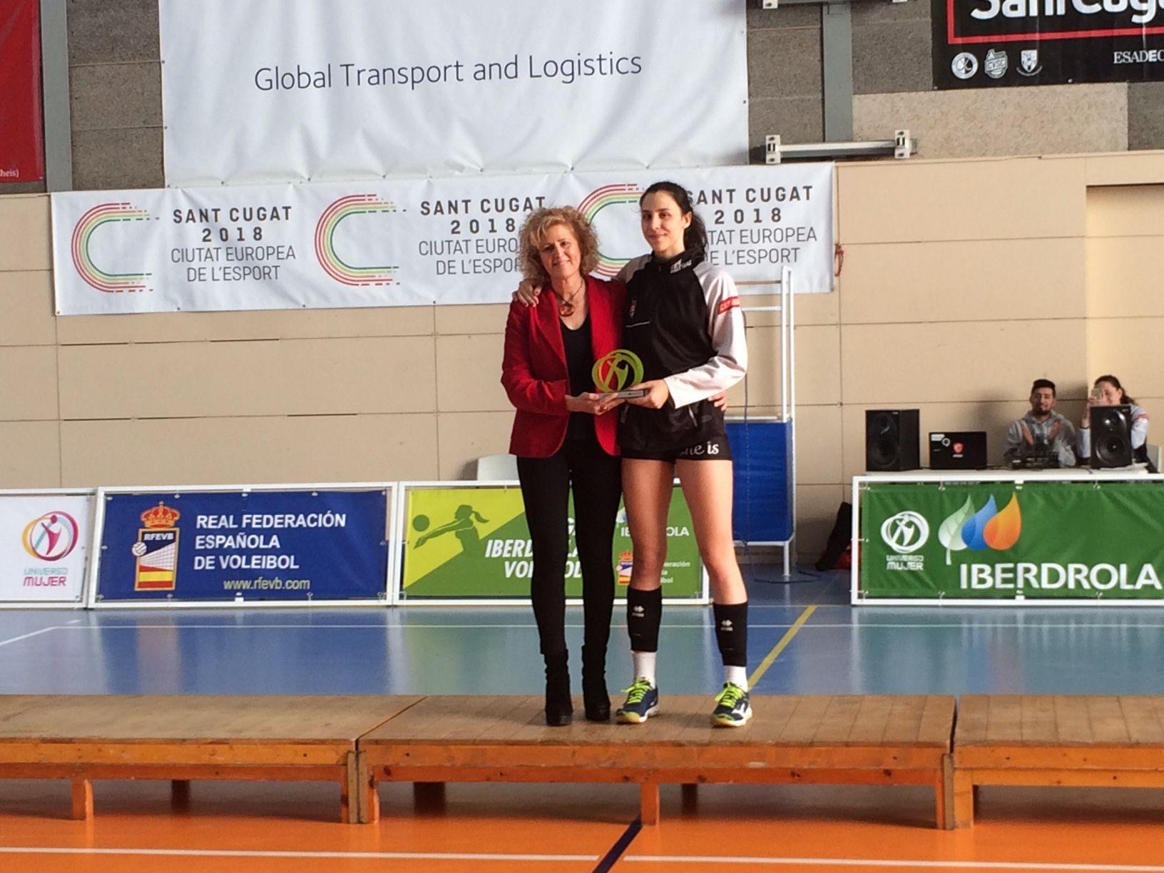 Aina Berbel, MVP de la Superlliga Júnior Femenina 2018. FOTO: Àlex López Puig