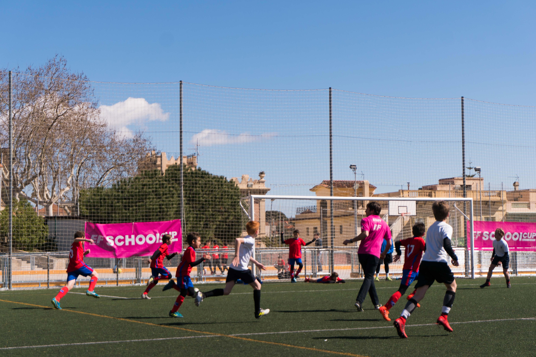 Un dels partits que ha jugat l'European International School of Barcelona. FOTO: European International School of Barcelona