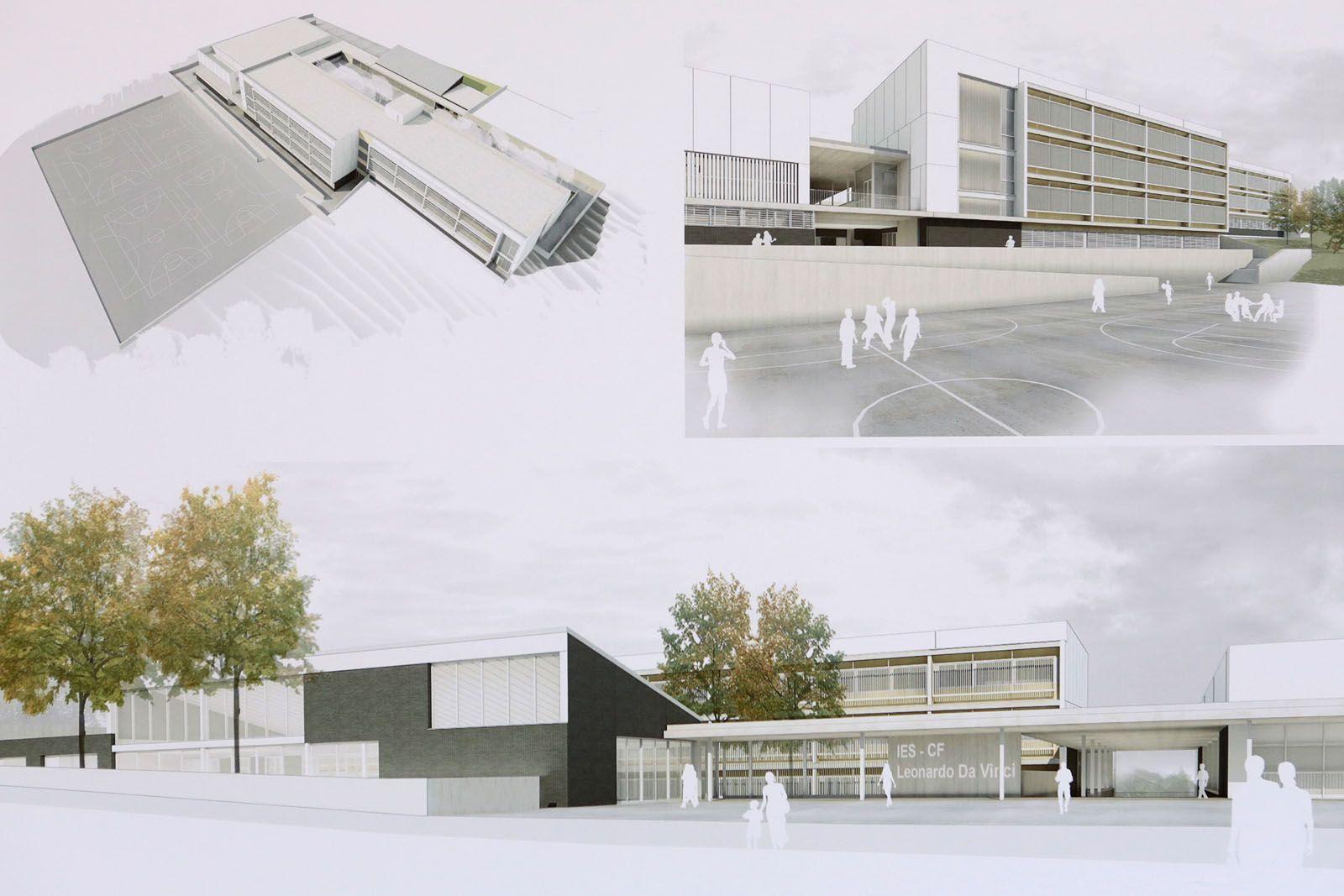 Simulació de l'institut un cop finalitzat. FOTO: Pascual-Ausió Arquitectes.