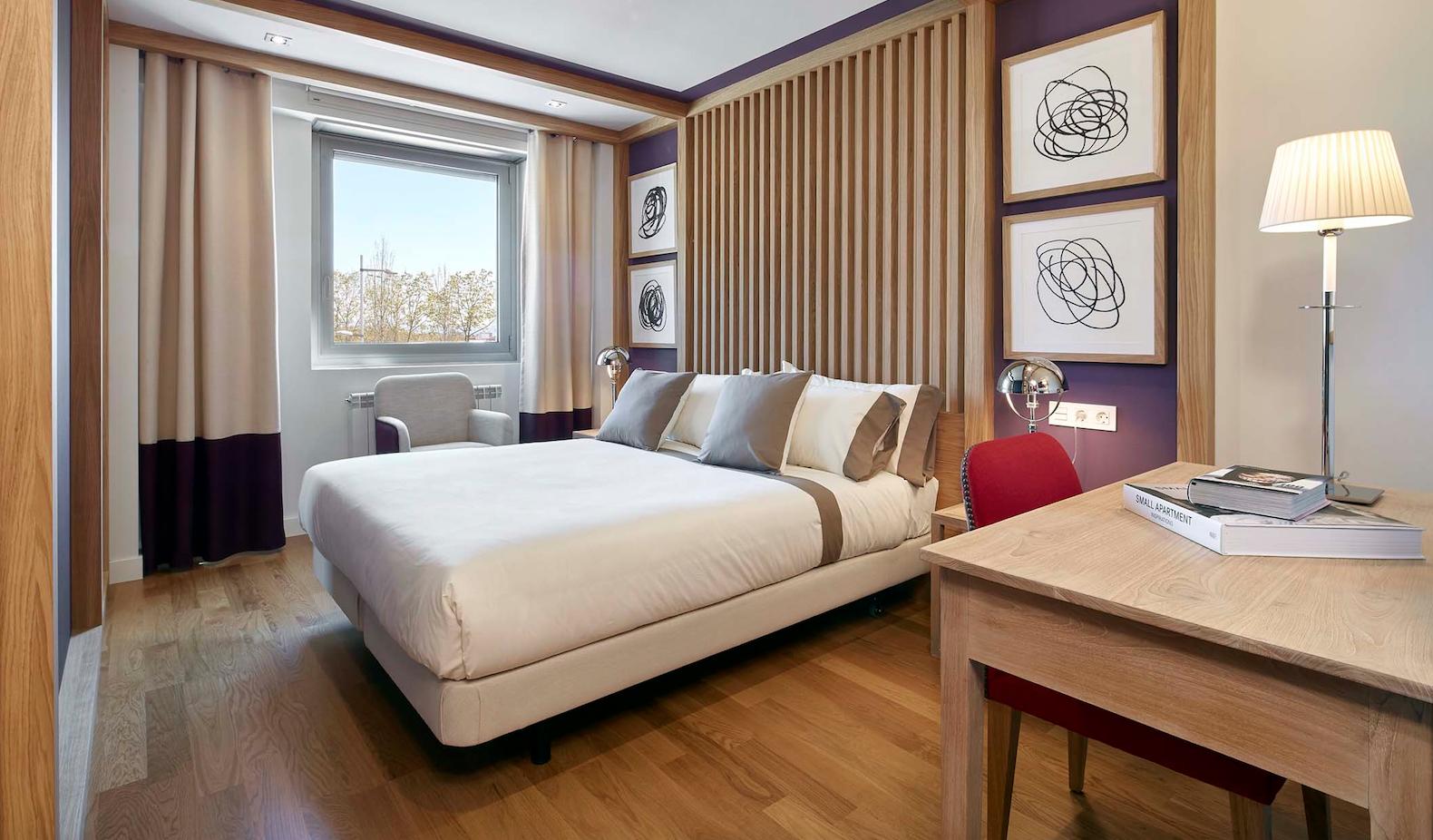 Un dels dormitoris d'aquestes cases de luxe FOTO: Cedida