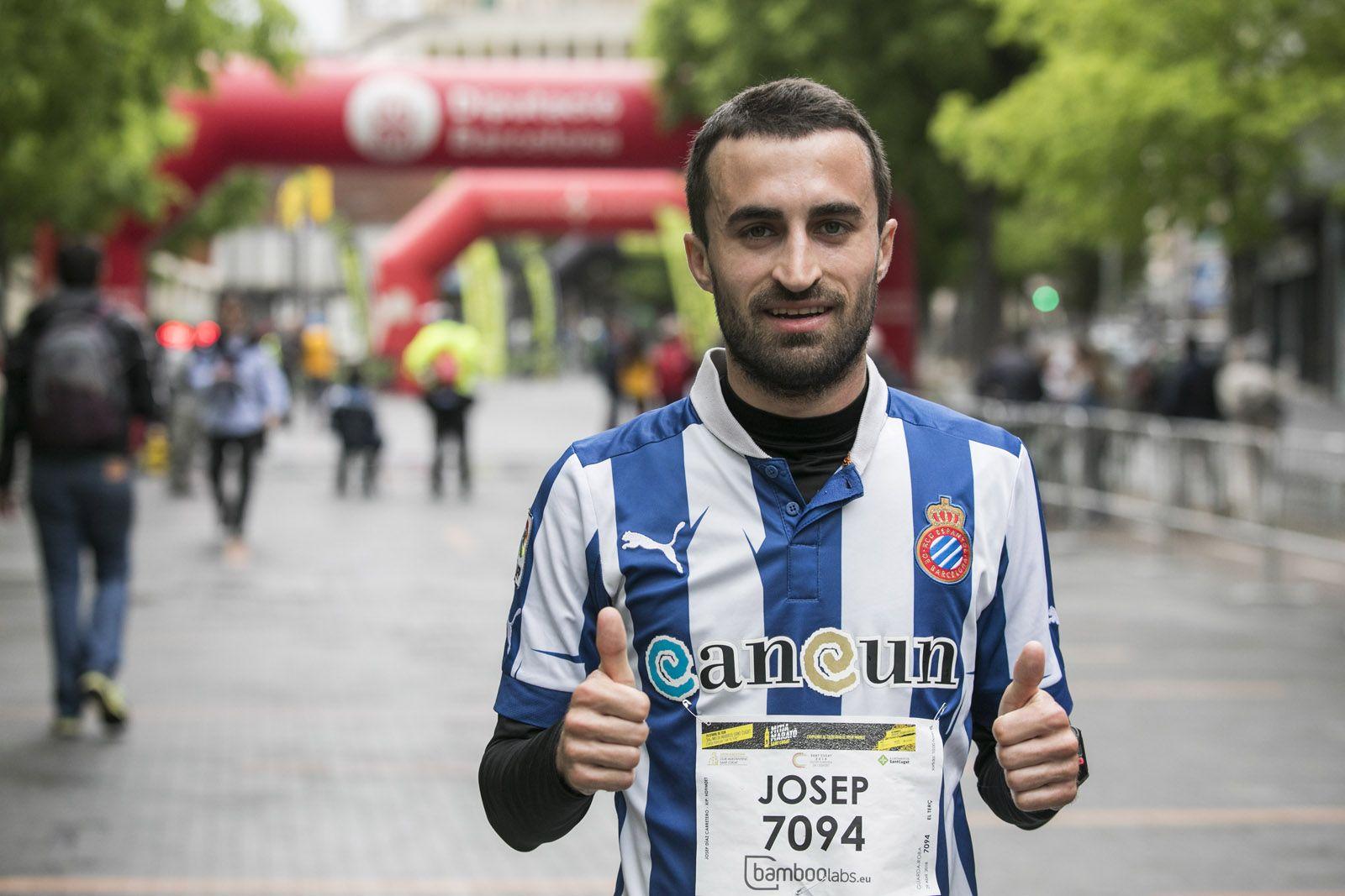 Josep Díaz, campió de la cursa dels 7 quilòmetres. FOTO: Lali Puig