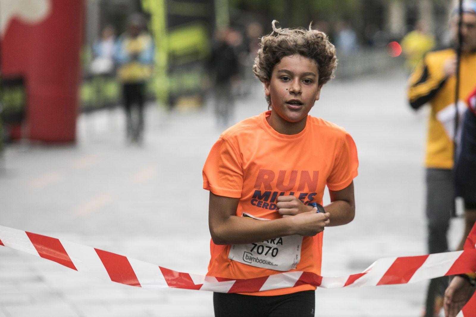 Clara Gabriel, campiona de la cursa dels 7 quilòmetres. FOTO: Lali Puig