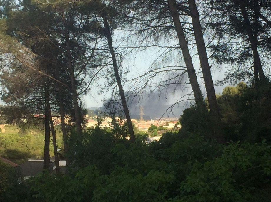 Incendi a Can Sant Joan. FOTO: Cedida