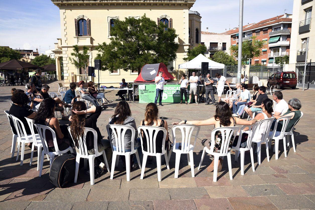 L'assemblea del Sindicat de Llogaters FOTO: Bernat Millet