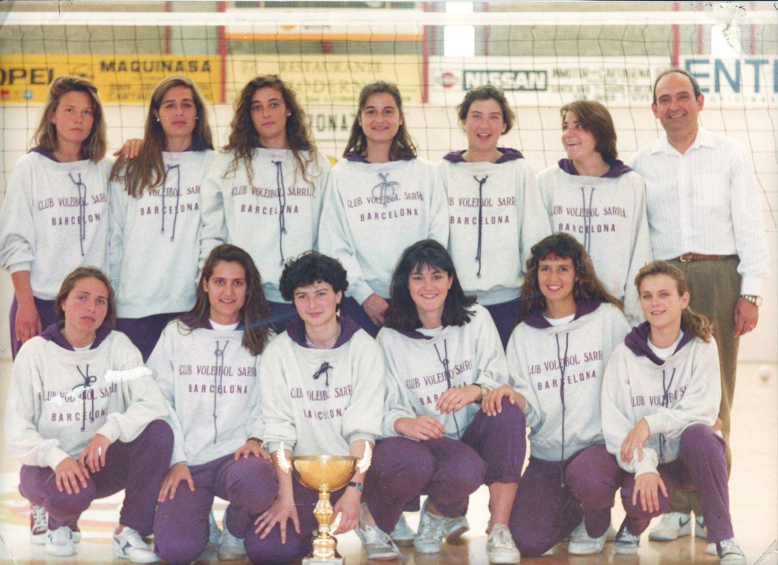 El CV Sarrià es va crear el 1988 i al 1992 va passar a dir-se CV Sant Cugat. Foto Arxiu Club Volei Sant Cugat.