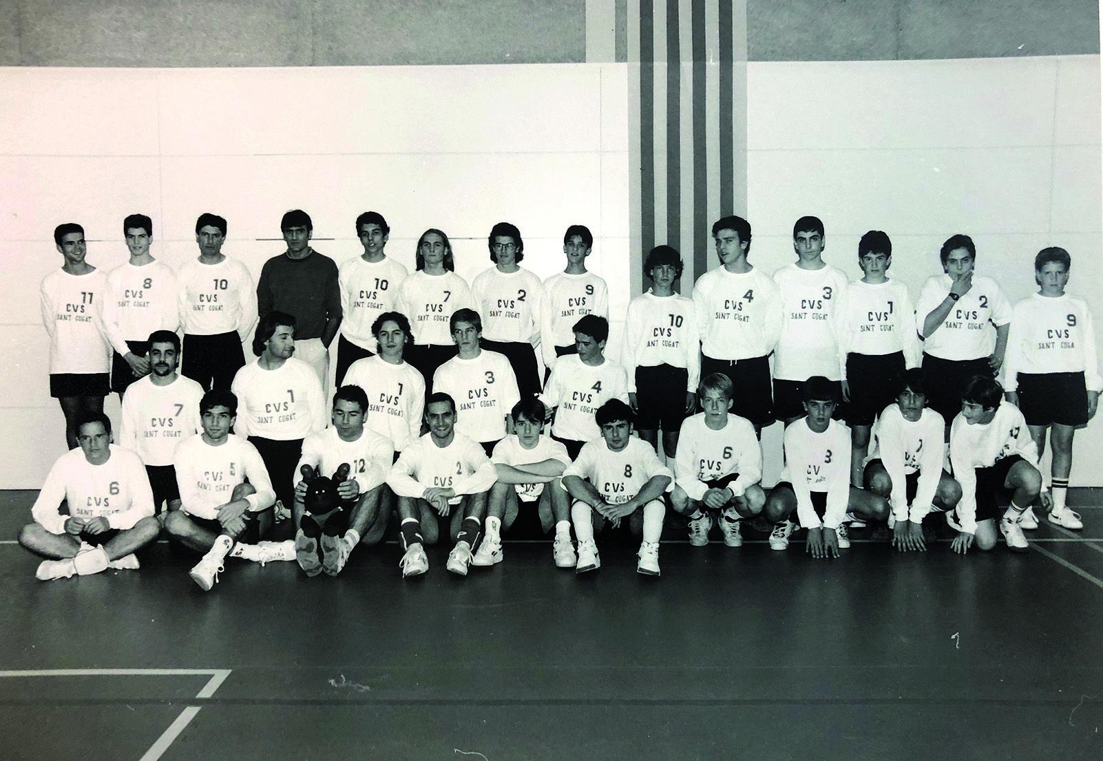 El CV Sant Cugat va tenir una secció masculina. Foto Arxiu Club Volei Sant Cugat.