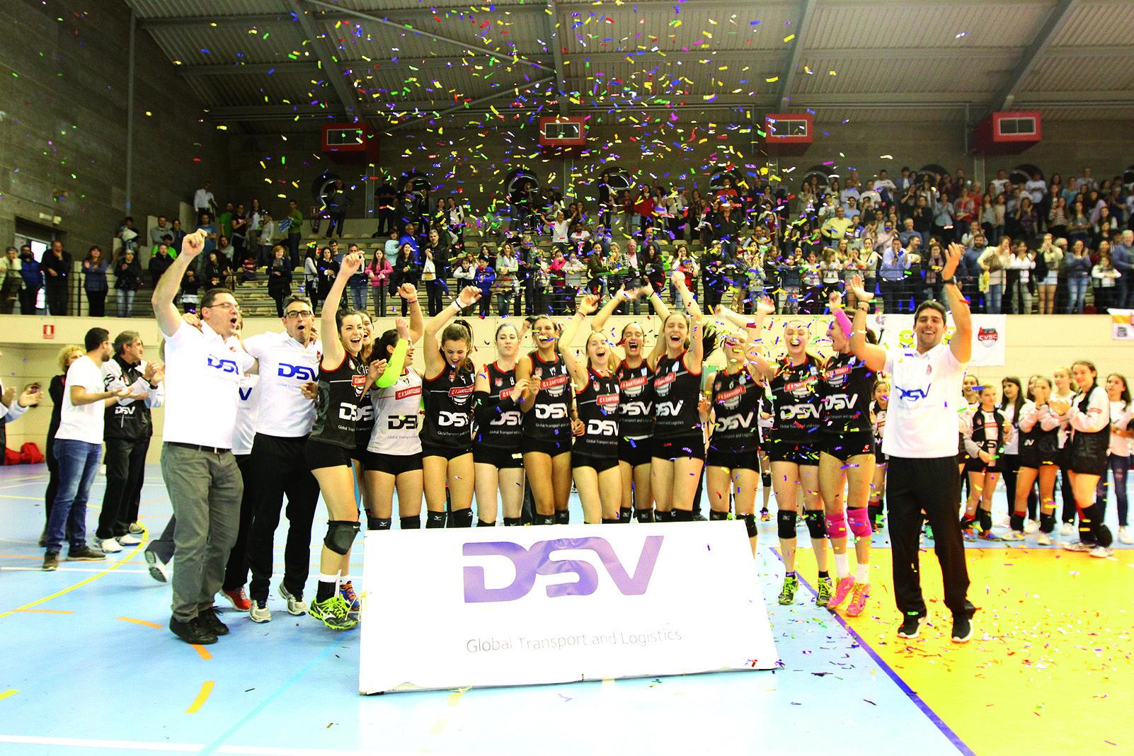 L'última vegada que el primer equip va ascendir a Superlliga Femenina va ser la temporada 2015-2016. Foto Arxiu Tot Sant Cugat.