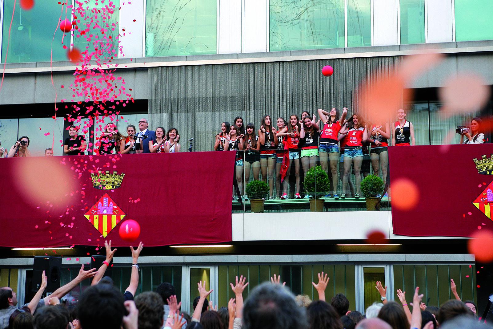 L'any 2013, el CV Sant Cugat va ser el pregoner de la Festa Majorde la ciutat. Foto Arxiu Tot Sant Cugat.