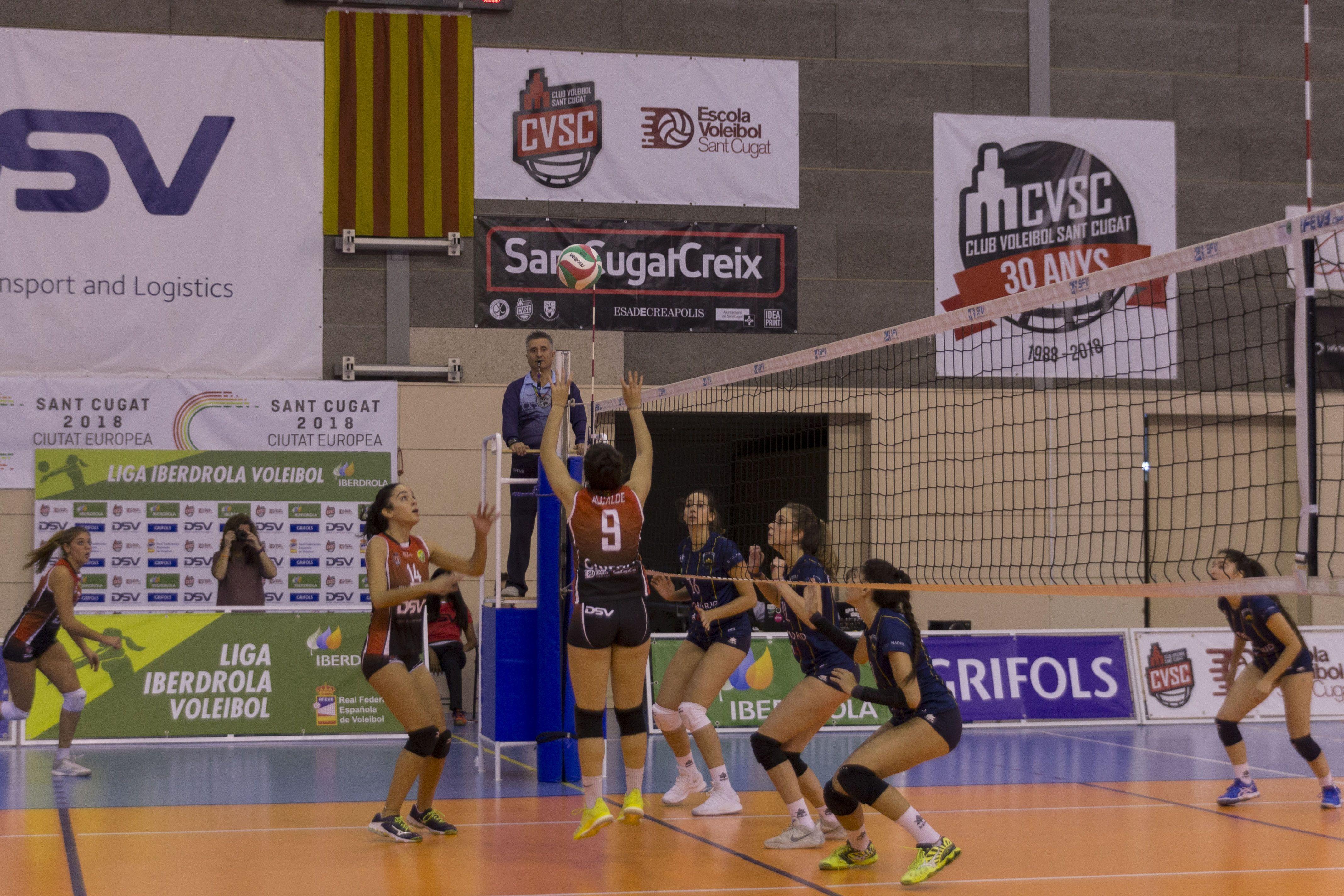El DSV Club Voleibol Sant Cugat ha perdut els cinc partits de la Superlliga Iberdrola