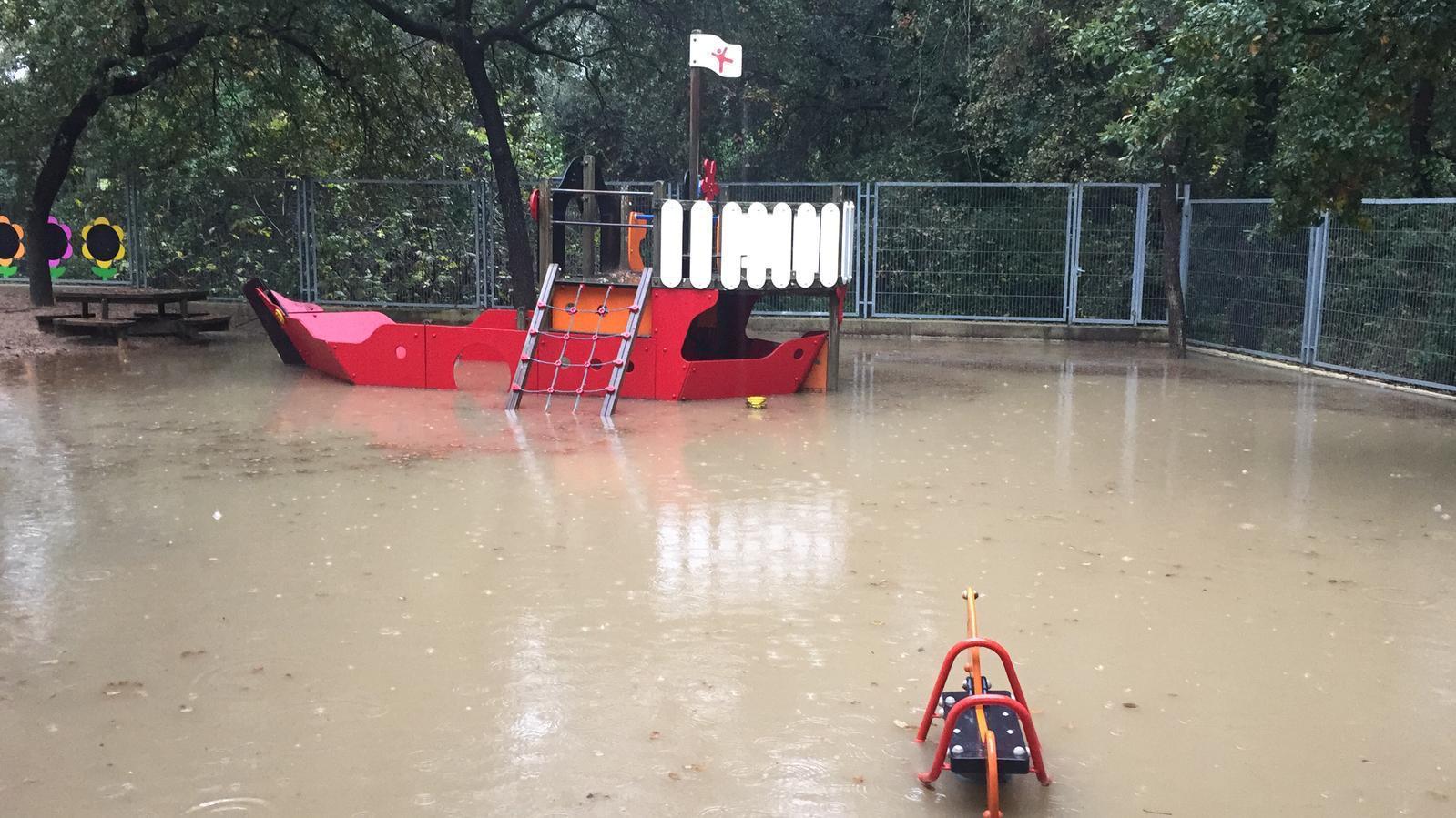 Les pluges deixen més de 80 litres per metre quadrat a Sant Cugat
