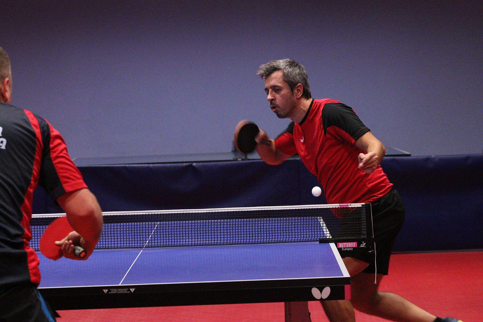 Tennis taula: UE Sant Cugat-Club Palma TT. Foto: Lali Álvarez