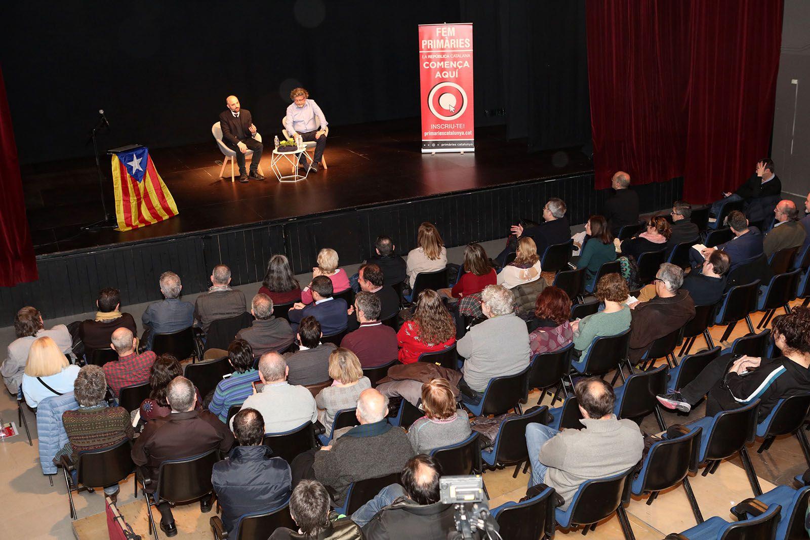 Acte de Primàries Sant Cugat, amb Jordi Graupera i Antoni Castellà. Foto: Lali Álvarez