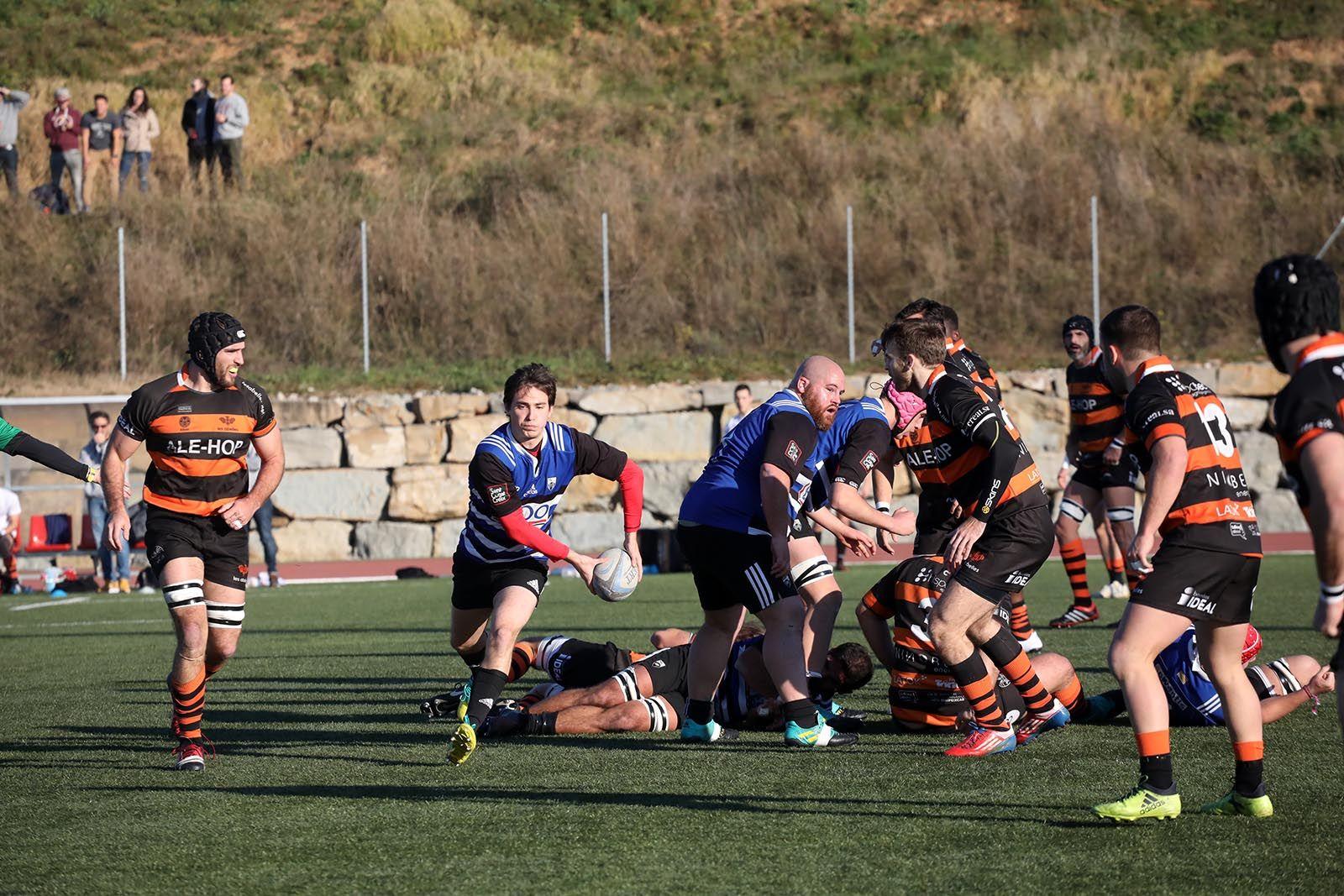 Lliga de rugbi: CR Sant Cugat-CP Les Abelles. Foto: Lali Álvarez