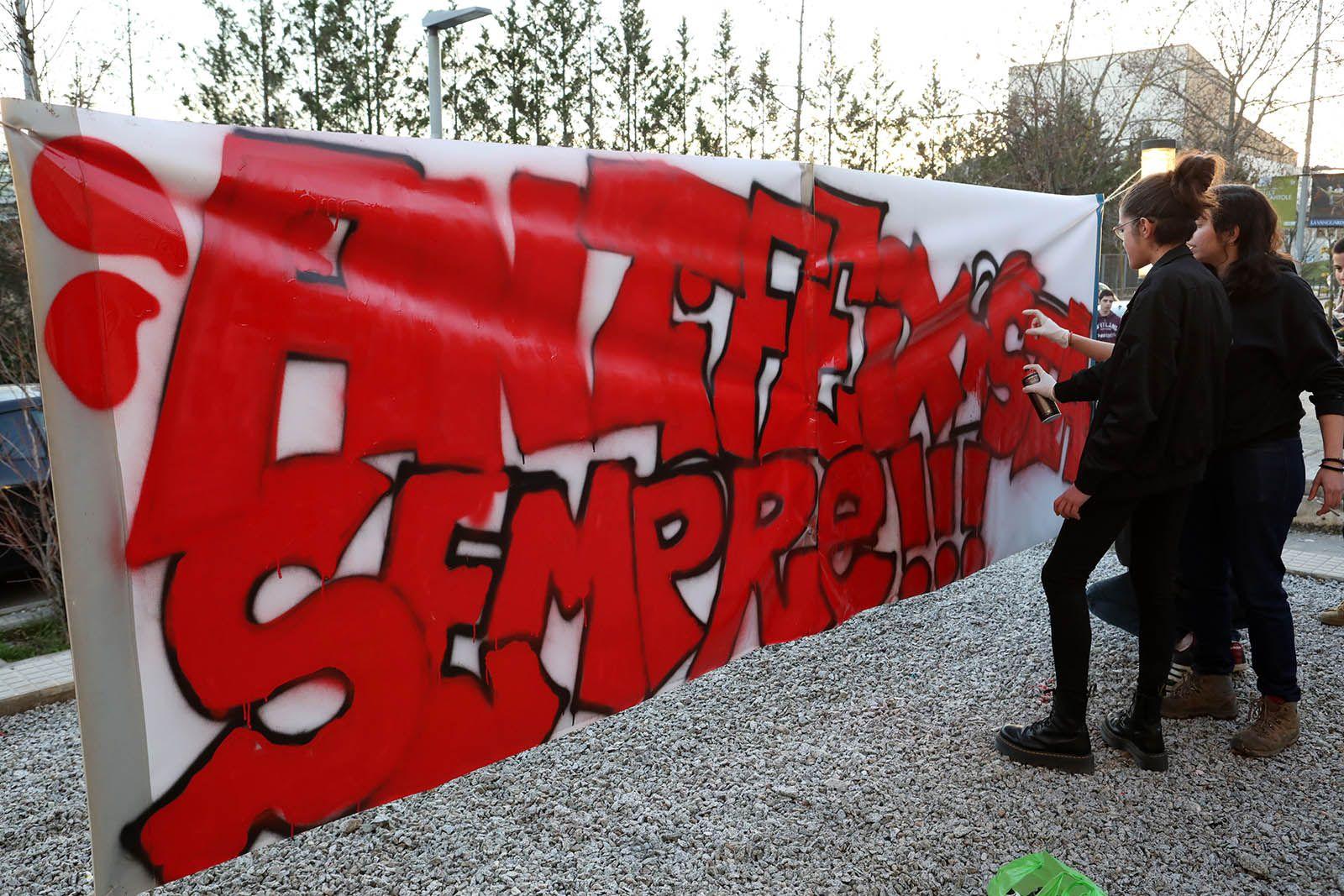 Mural contra el feixisme. Foto: Lali Álvarez