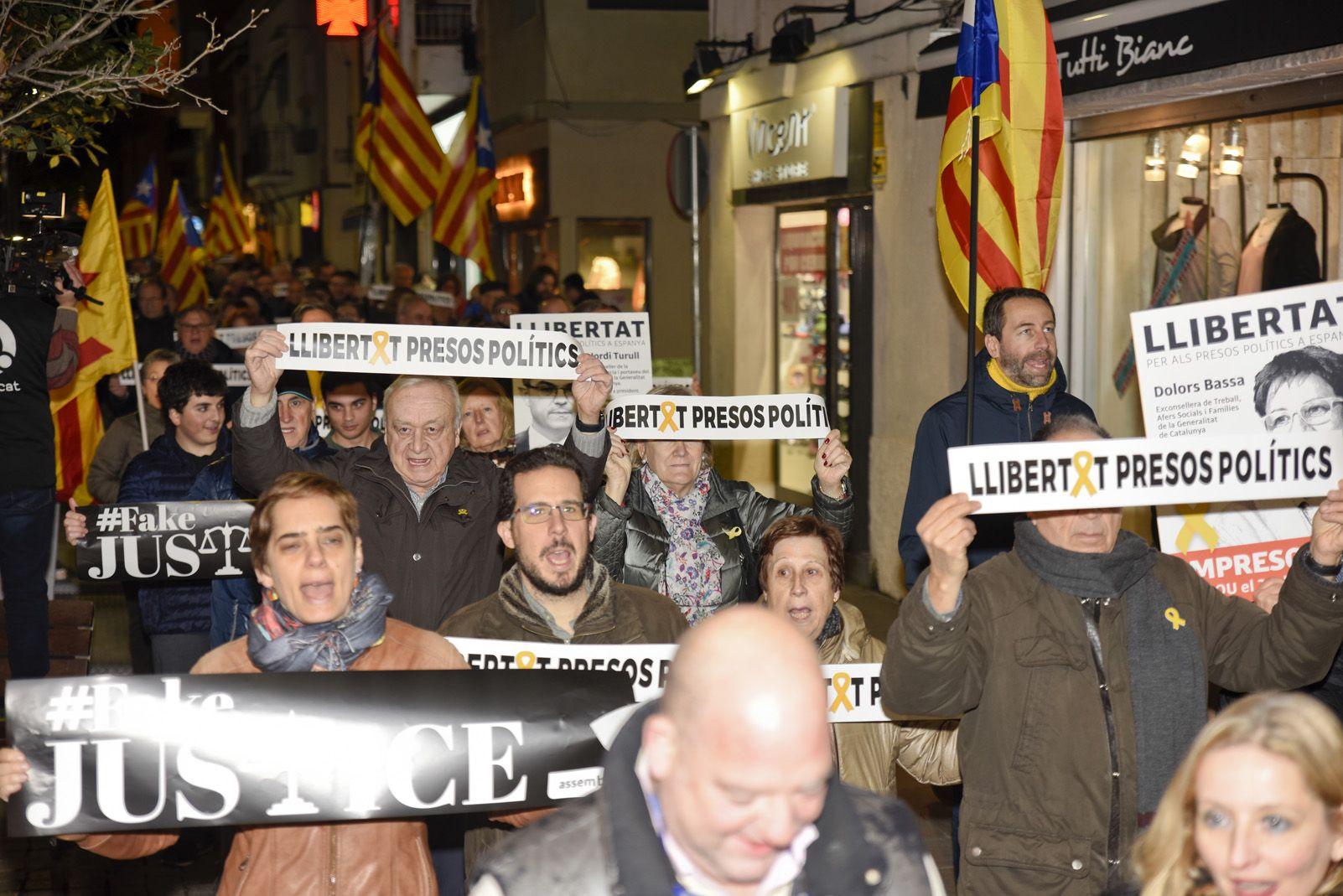 Sant Cugat contra el judici de l'1-O Foto: Bernat Millet.